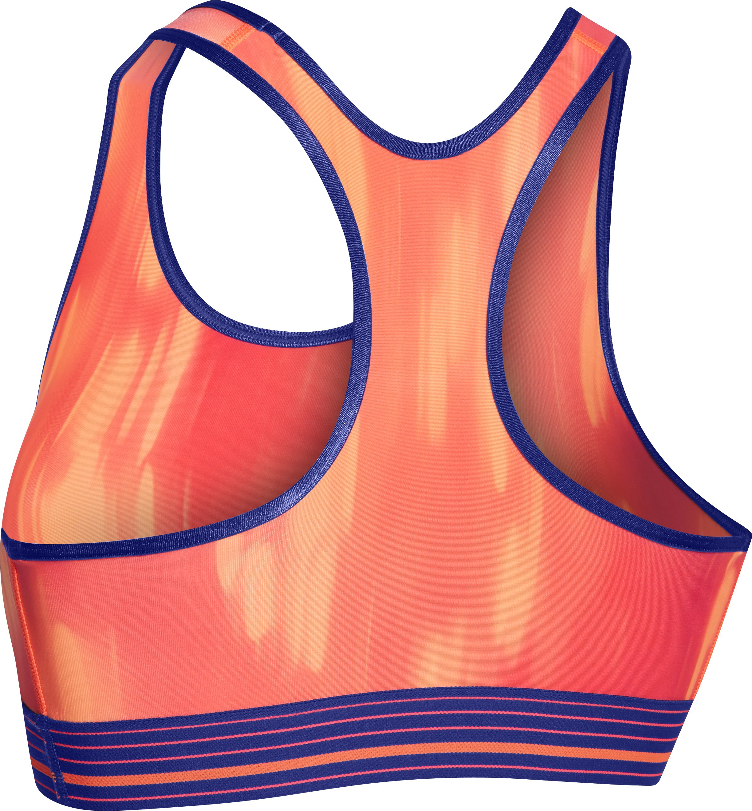 Women's Armour® Mid Printed Sports Bra, PINK SKY