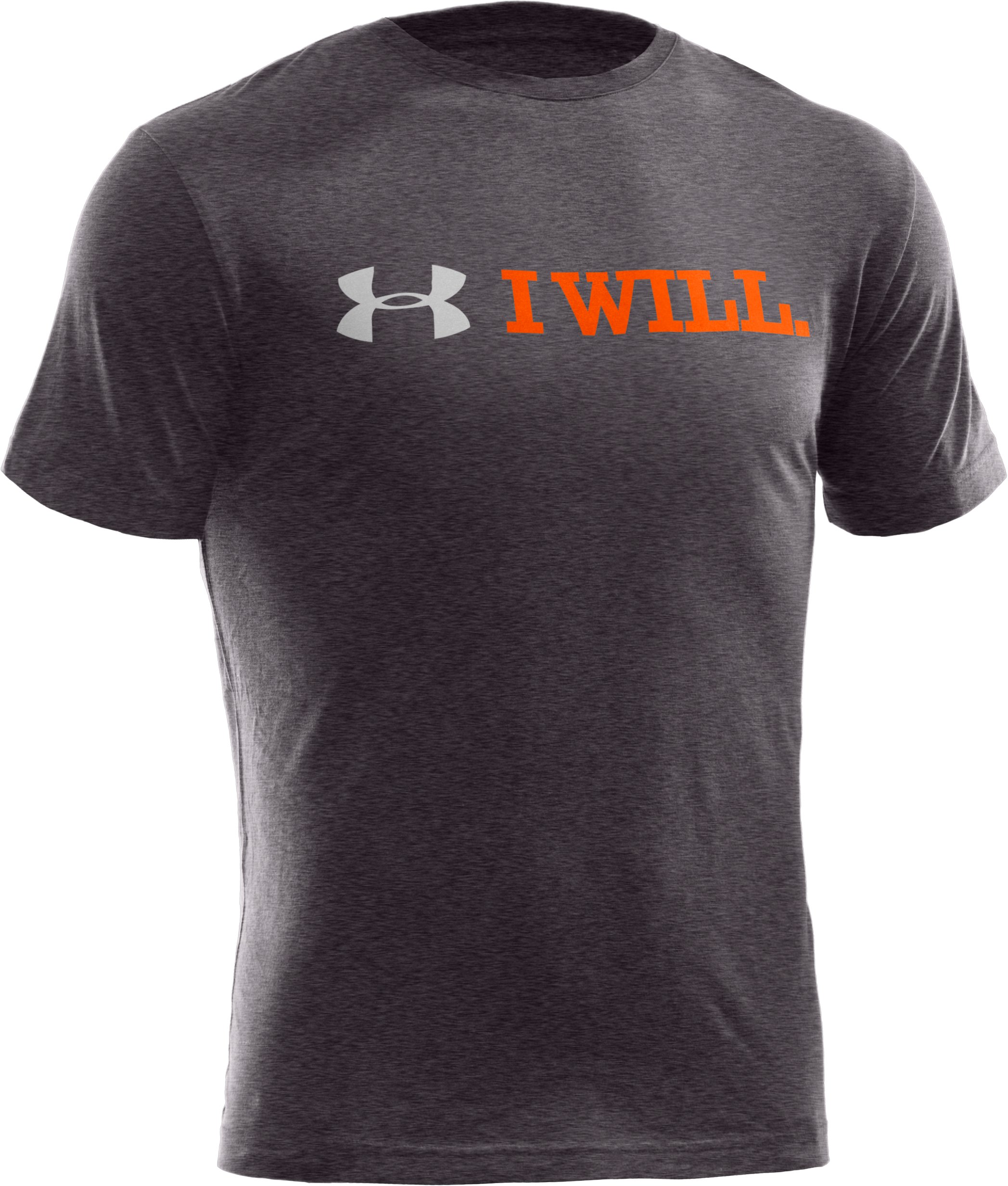 Men's UA I Will® T-Shirt, Carbon Heather, undefined