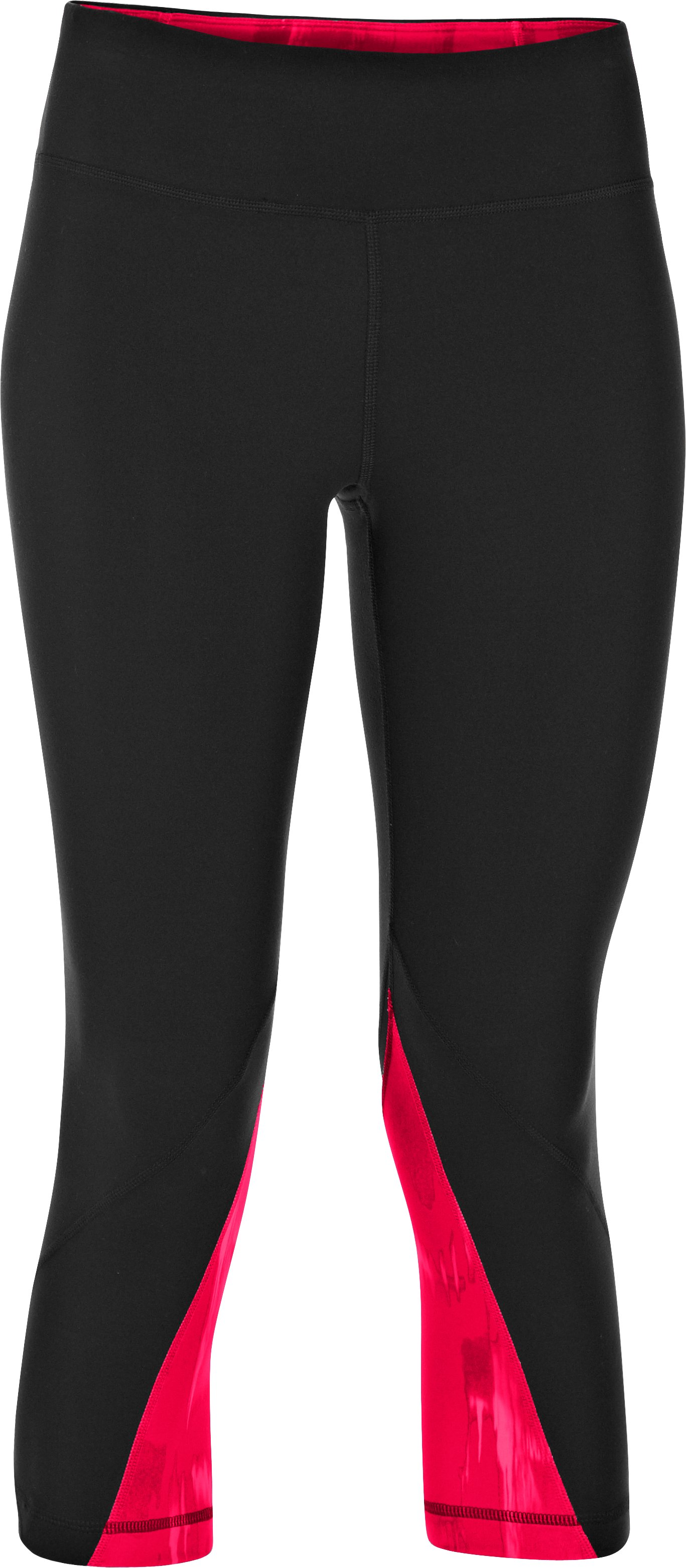 Women's UA Perfect Rave Retro Capri, Black