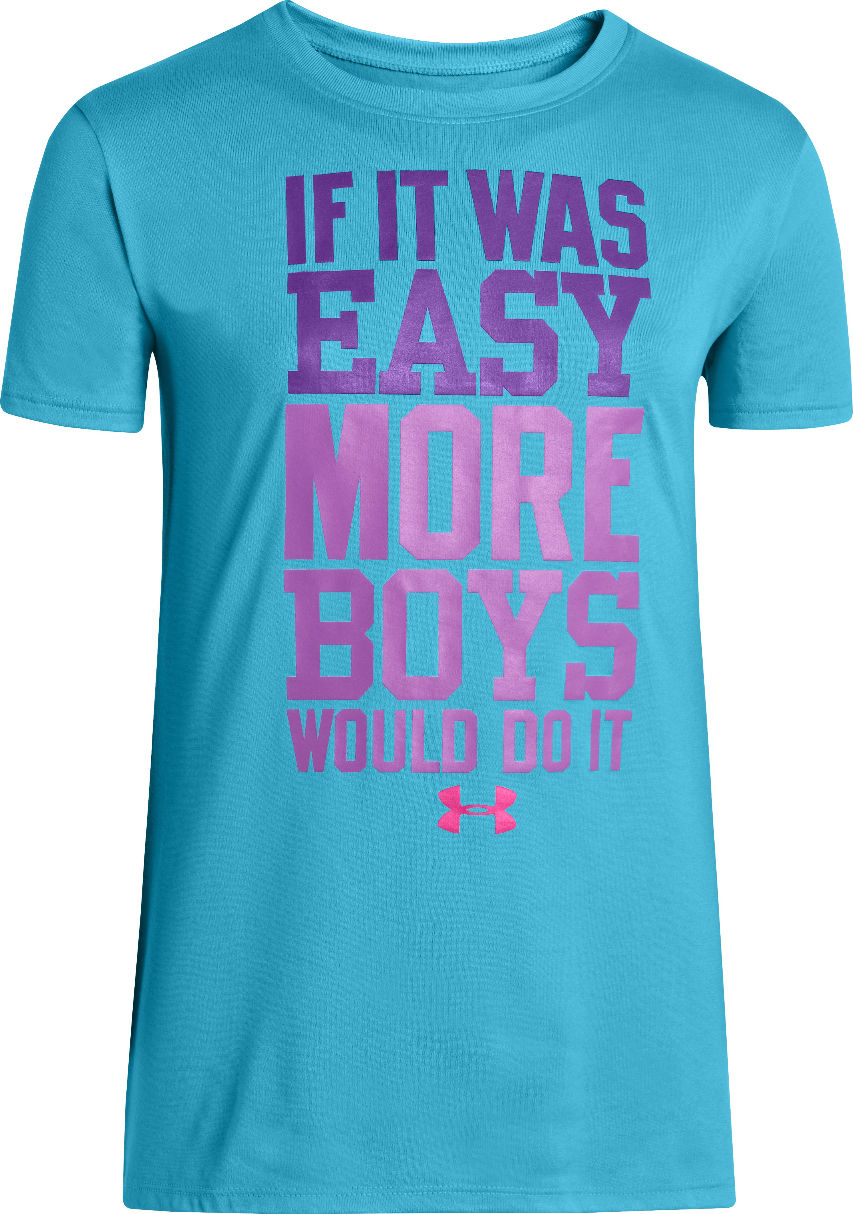 Girls' UA If It Was Easy Graphic T-Shirt, Cruise