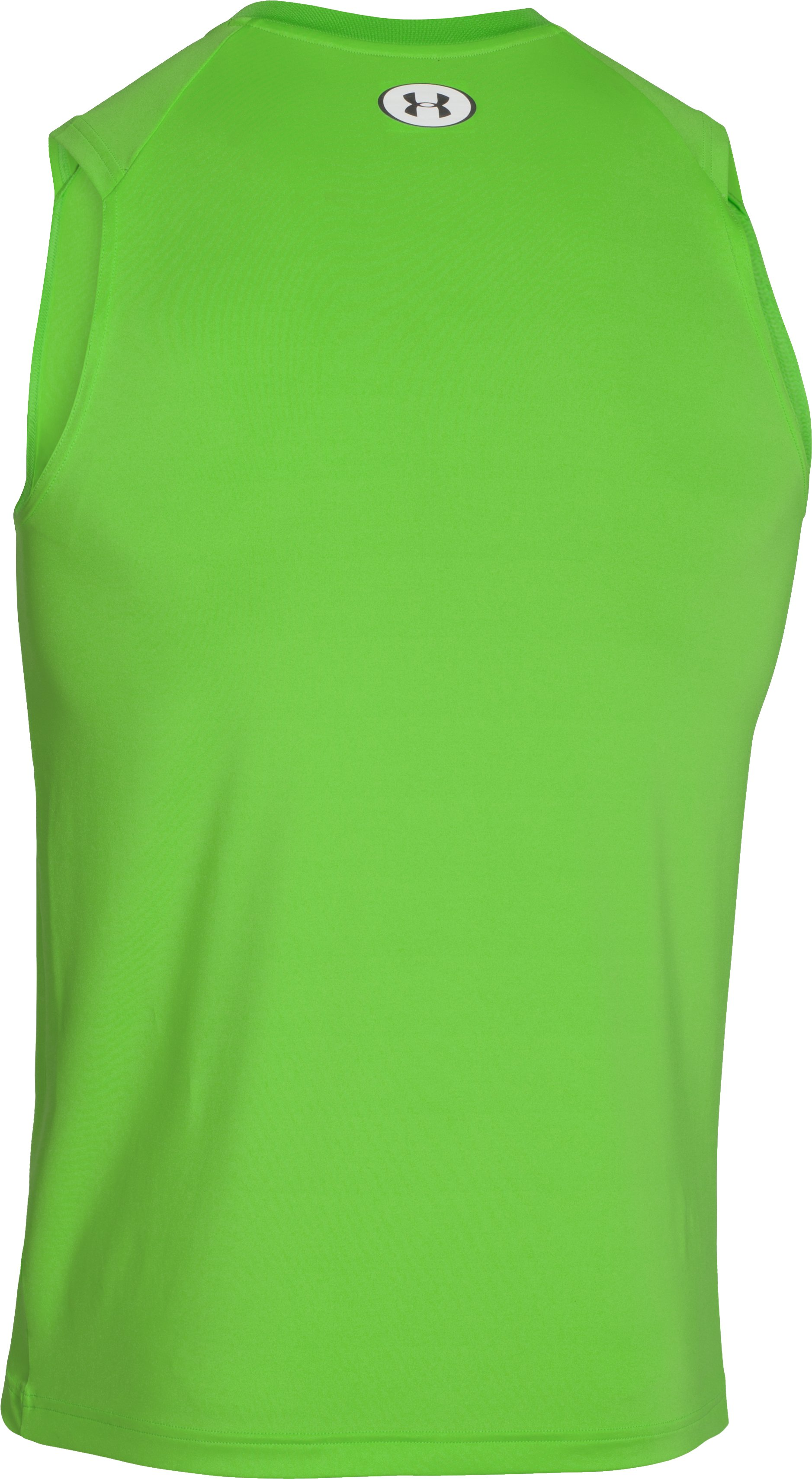 Men's HeatGear® Sonic Fitted Tank, GECKO GREEN