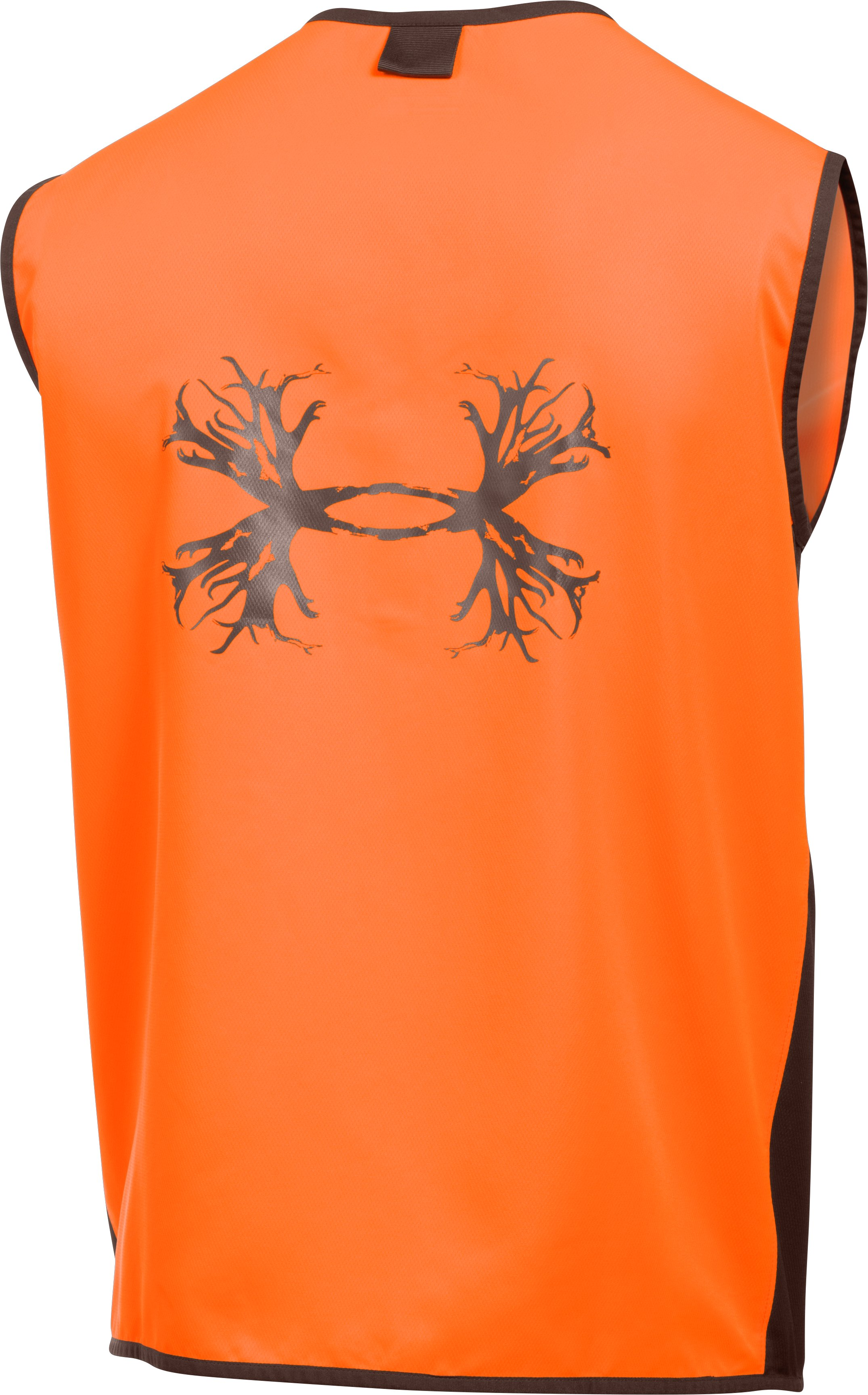 Men's UA Blaze Antler Logo Hunting Vest, Blaze Orange
