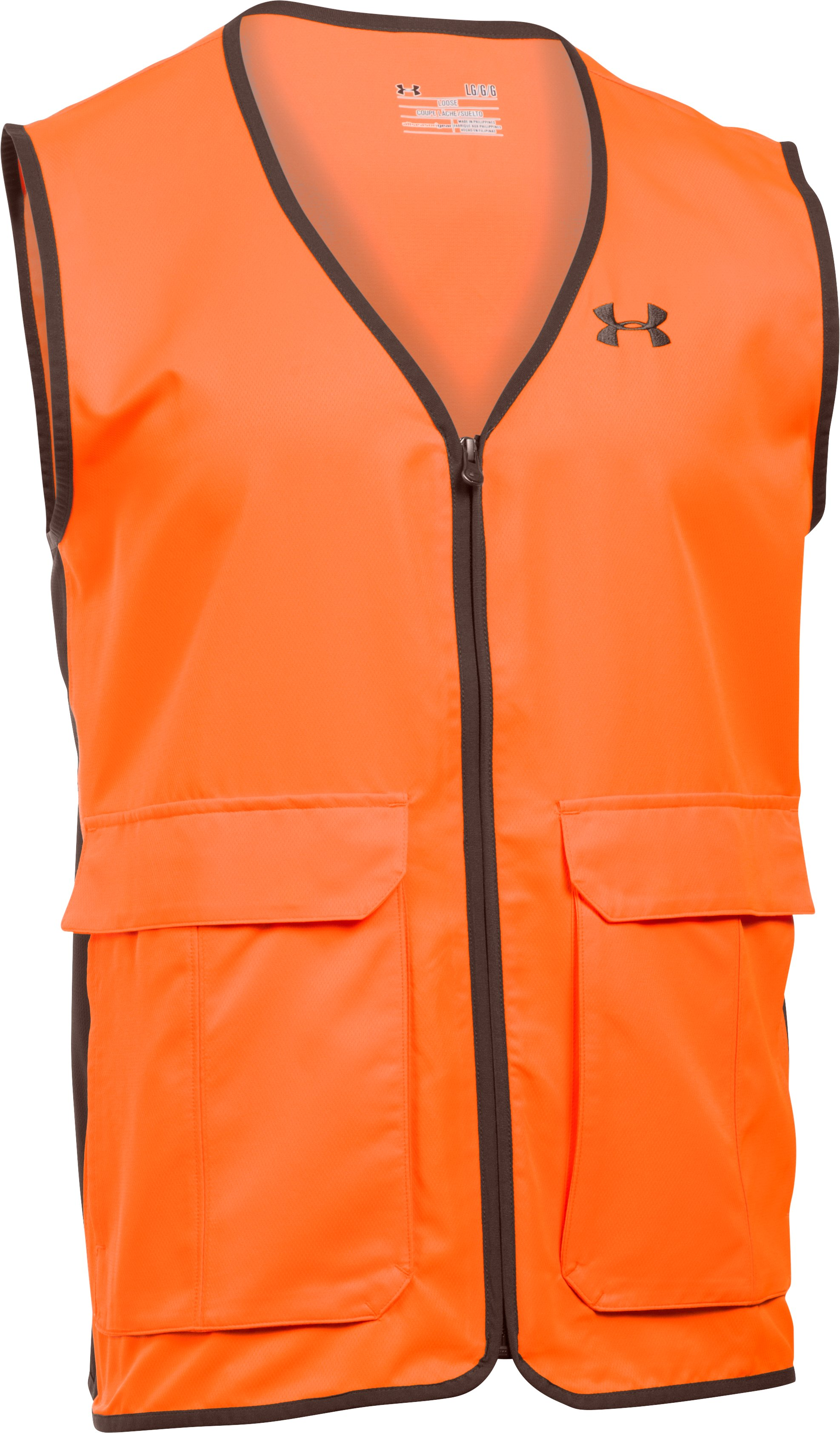 Men's UA Blaze Antler Logo Vest, Blaze Orange, undefined