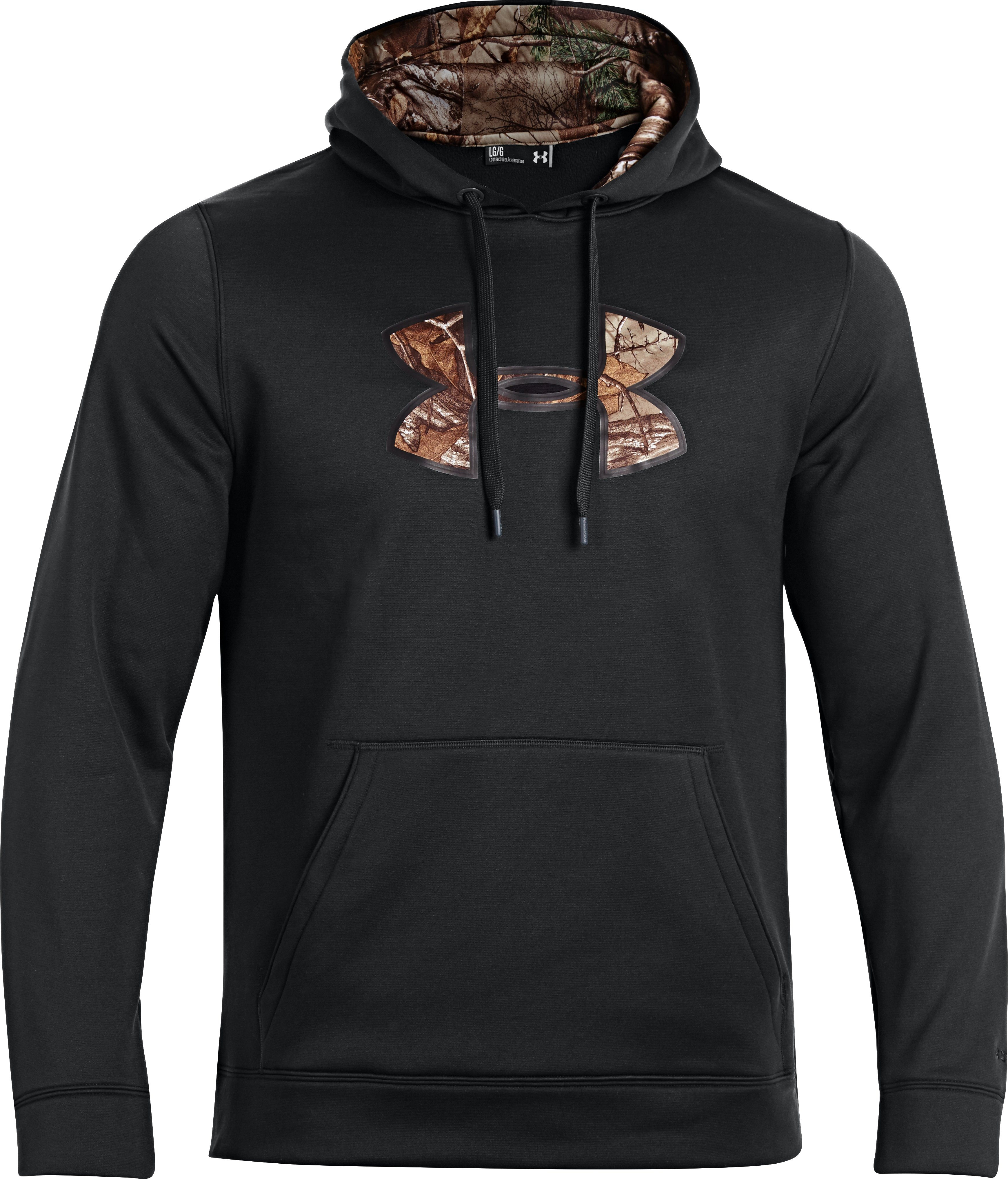 Men's UA Storm Armour Fleece® Caliber Hoodie, Black , undefined