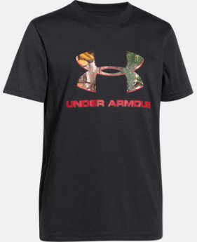 Boys' UA Camo Logo T-Shirt  1 Color $16.99