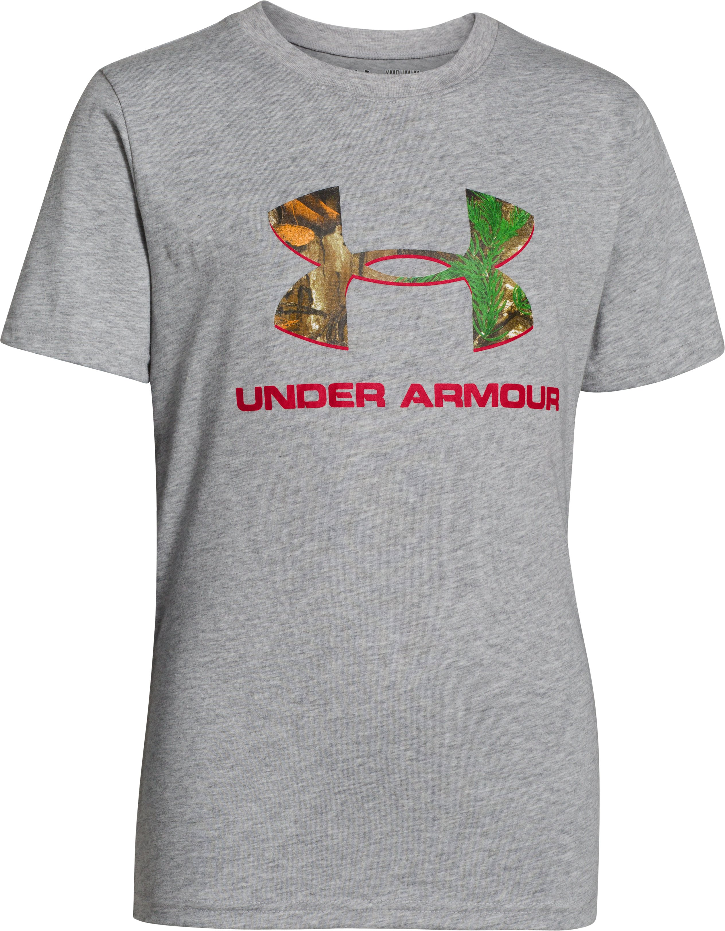 Boys' UA Camo Logo T-Shirt, True Gray Heather