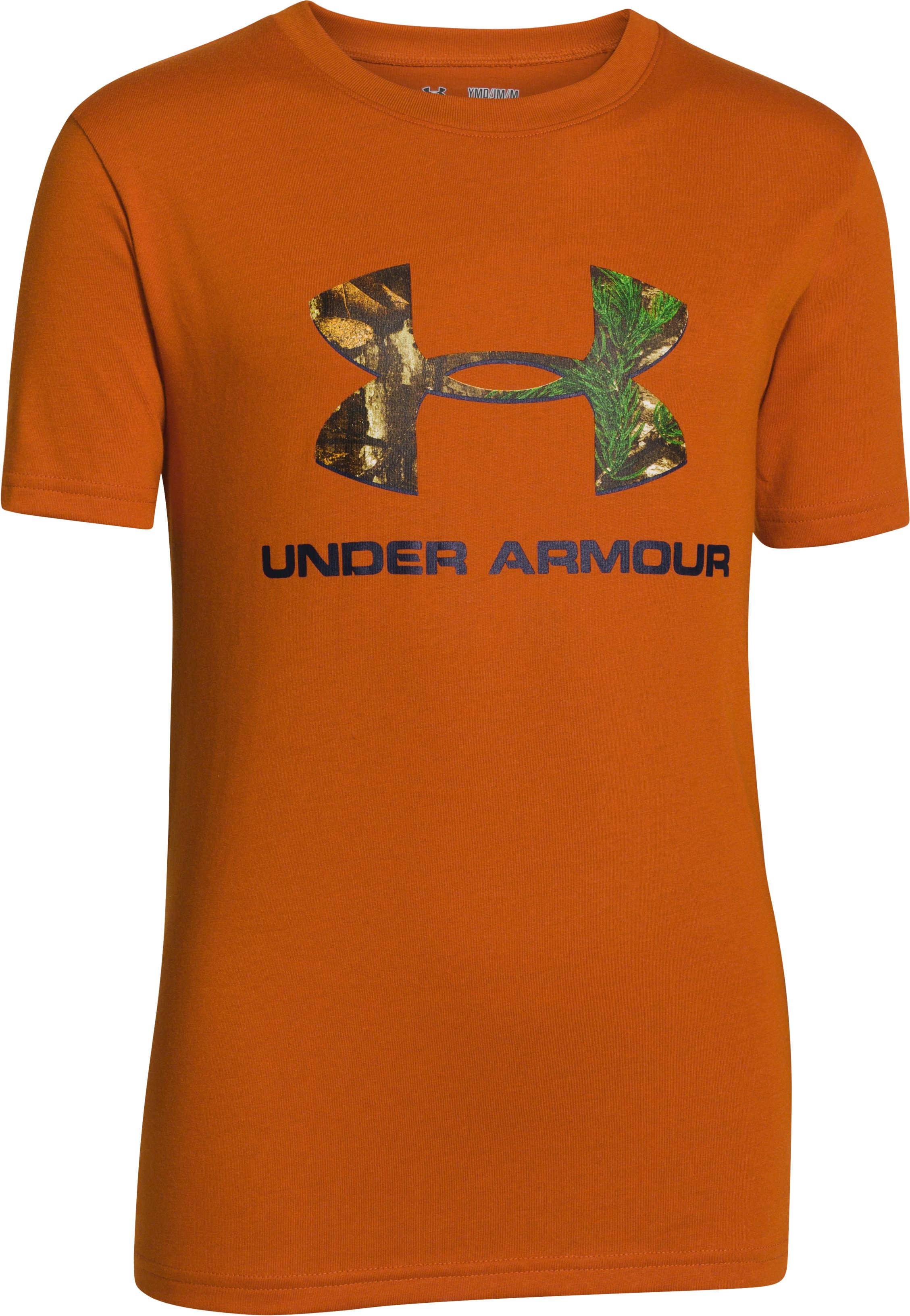 Boys' UA Camo Logo T-Shirt, RODEO ORANGE, undefined