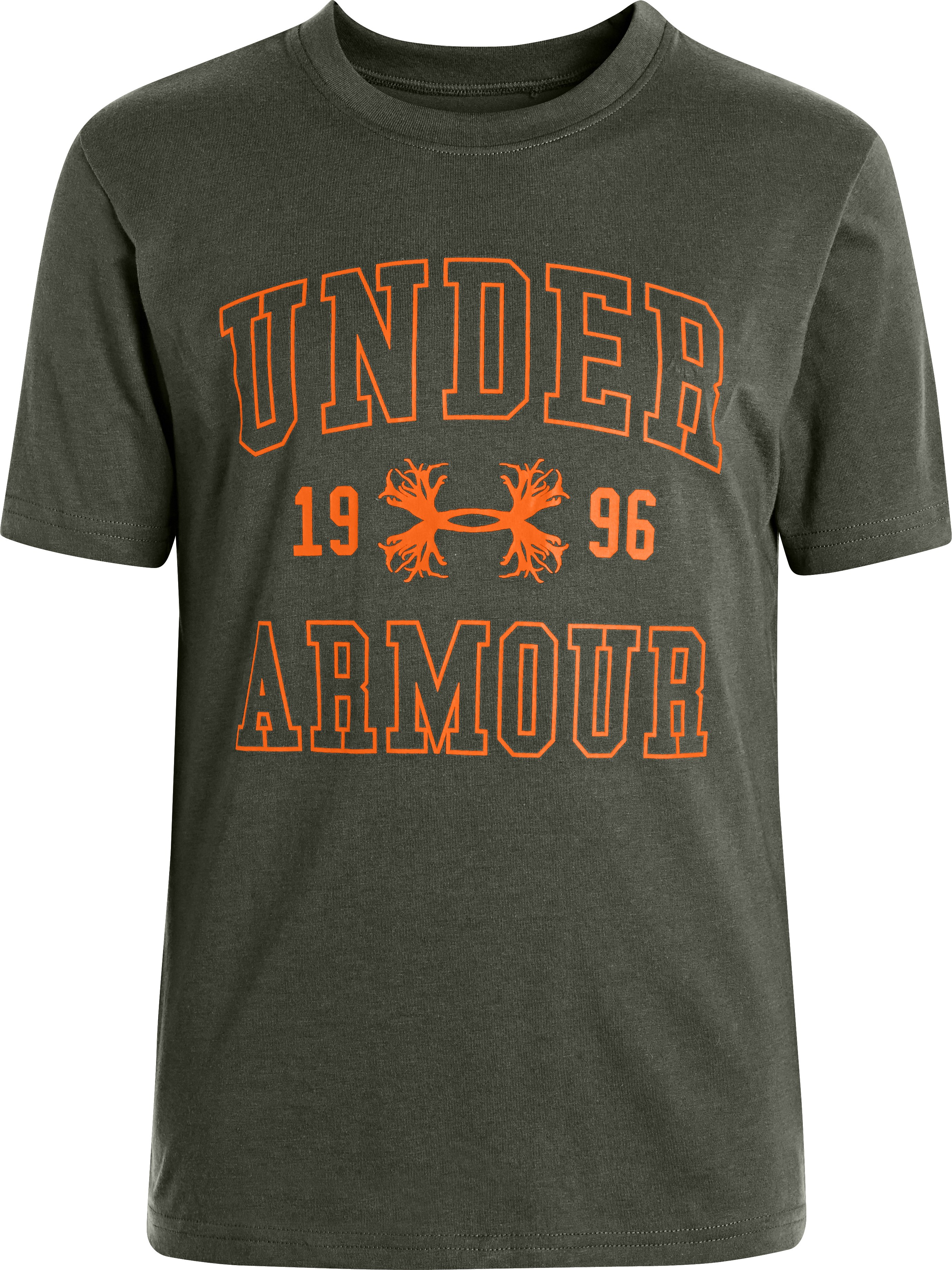 Boys' UA Antler Logo Collegiate T-Shirt, Rifle Green