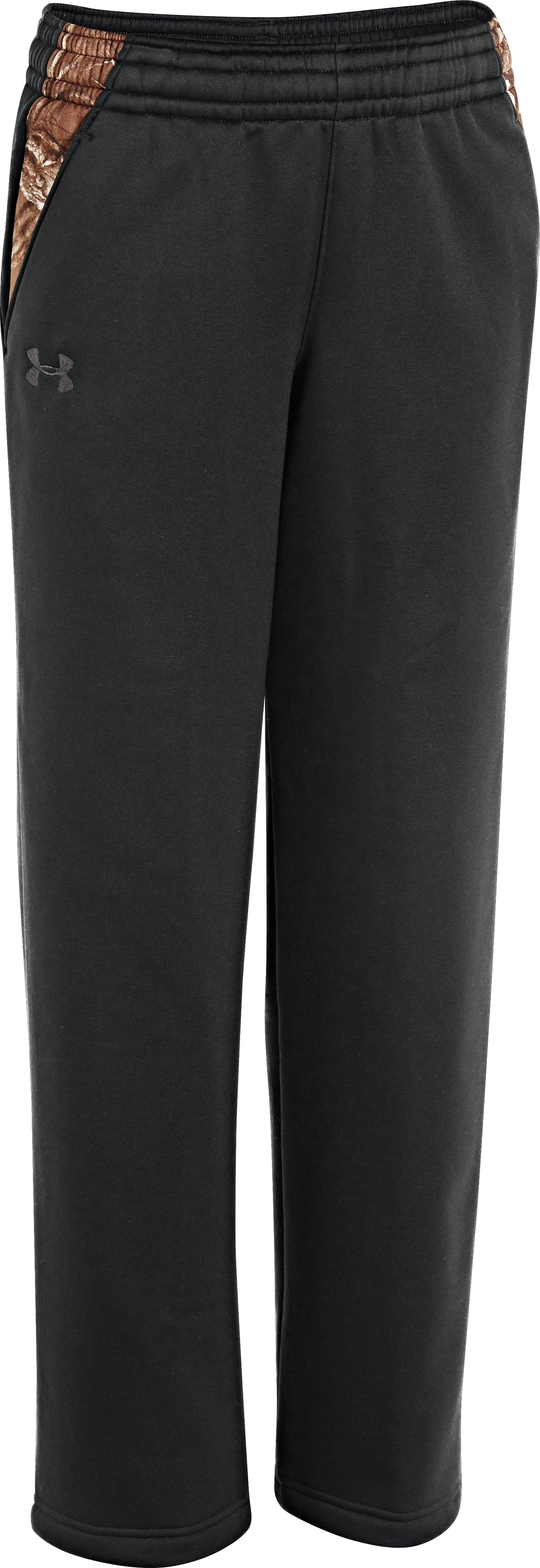 Boys' UA Storm Armour® Fleece Hero Pants, Black , zoomed image