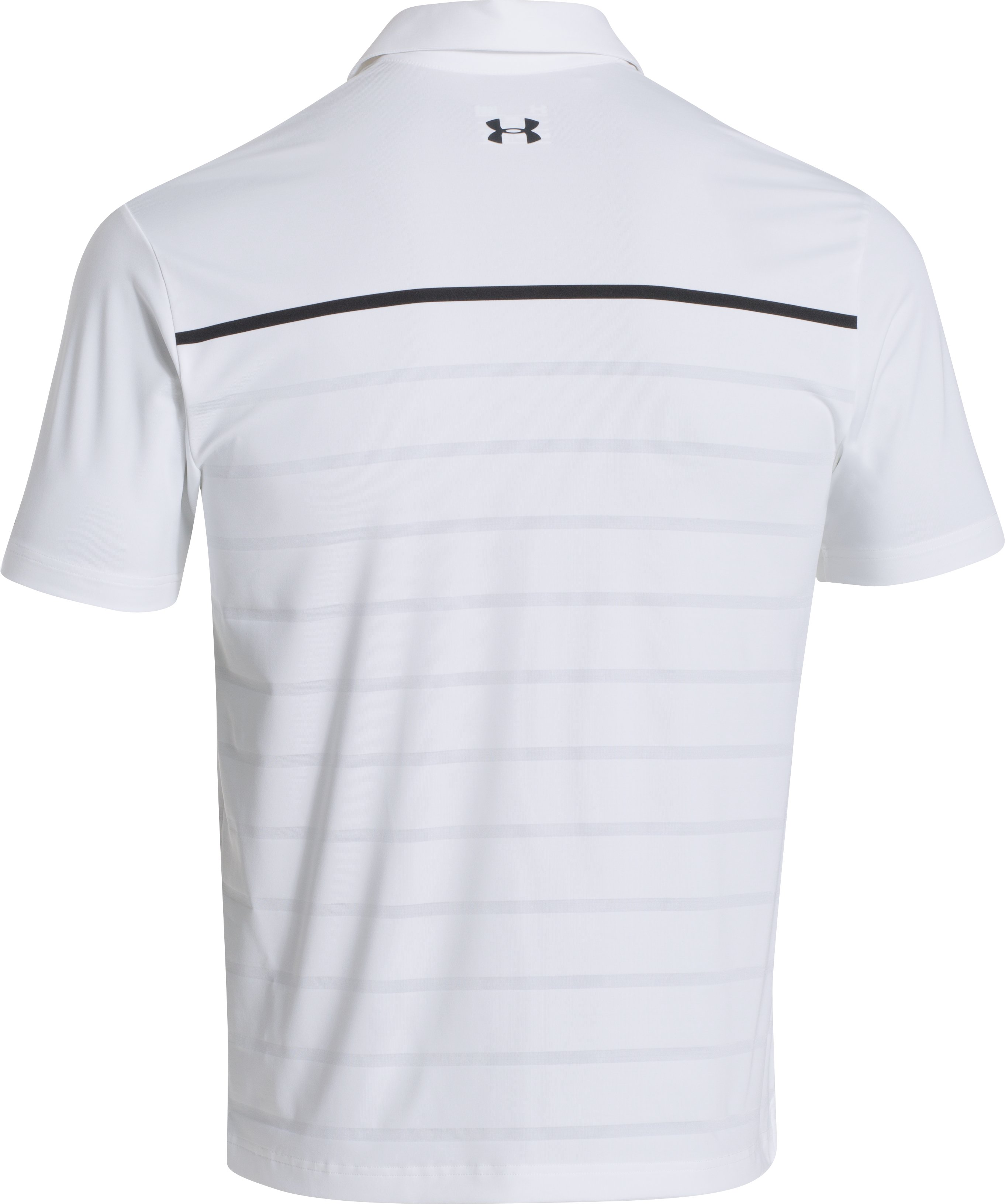 Men's UA Stripe Polo, White