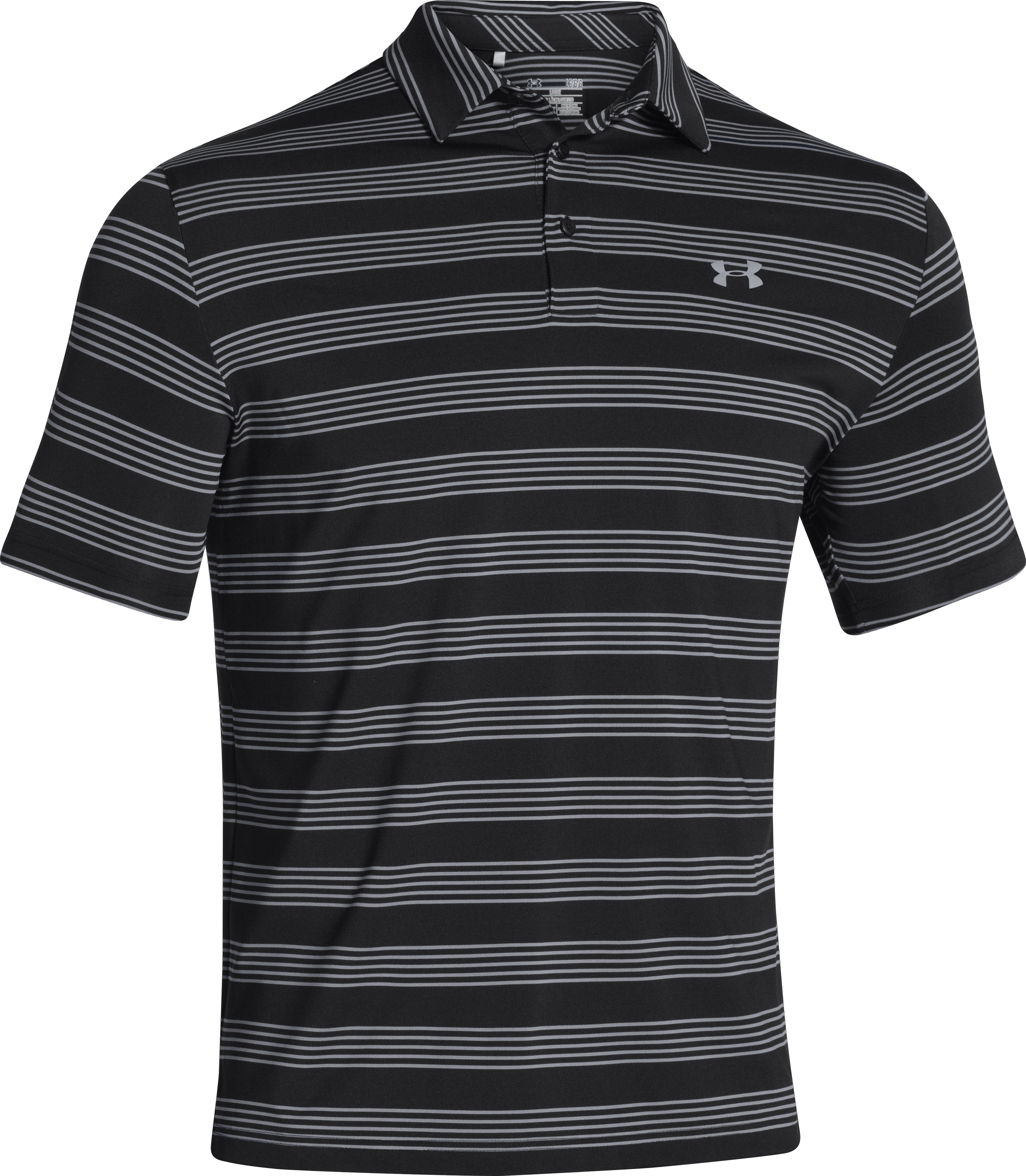 Men's UA Member's Bounce Polo, Black , undefined