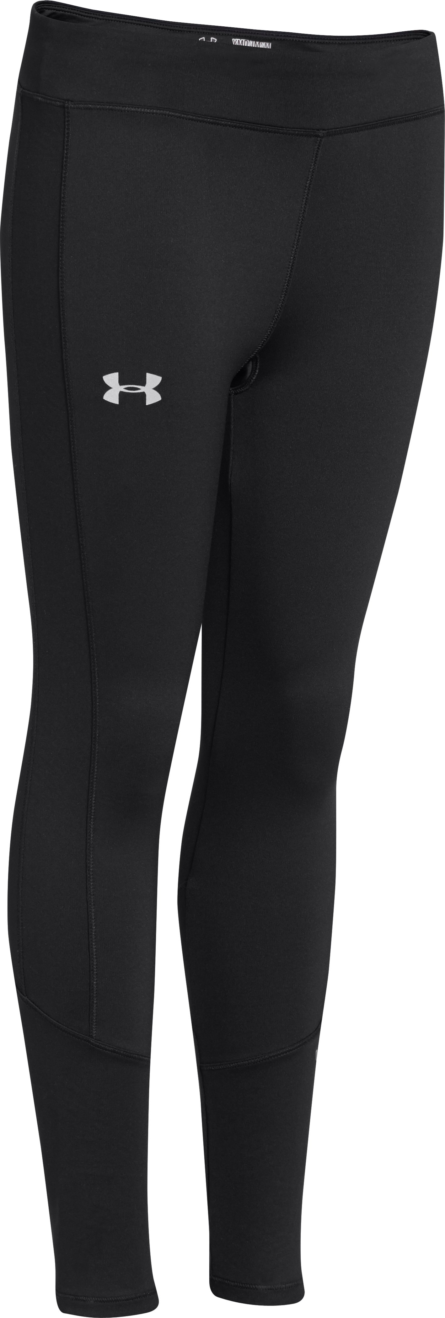 Girls' UA Storm ColdGear® Infrared Tight, Black