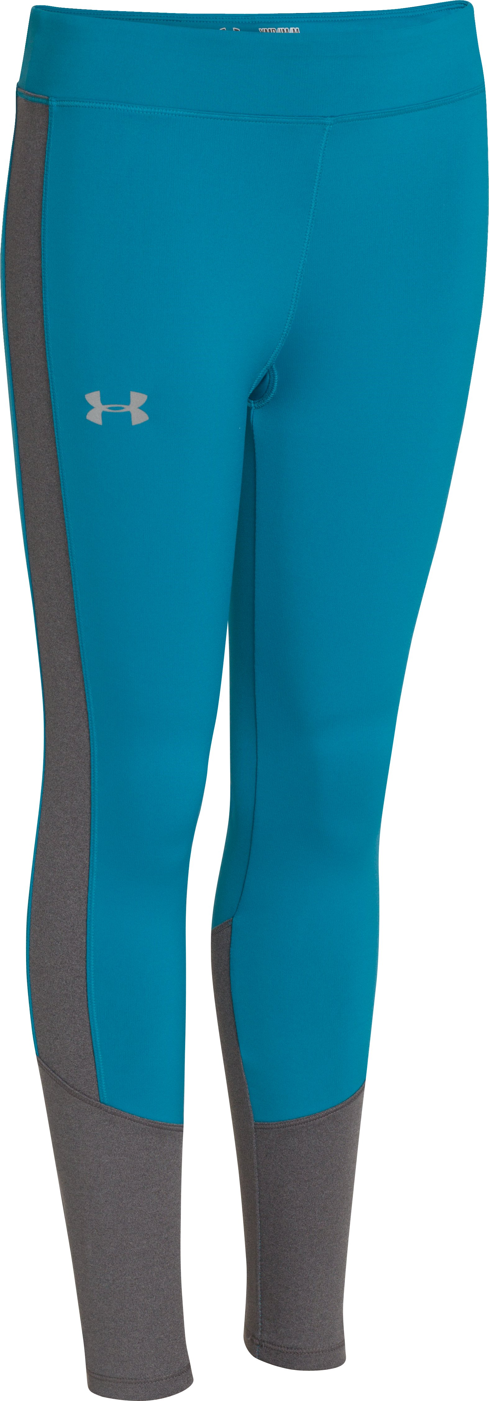 Girls' UA Storm ColdGear® Infrared Tight, TEAL ICE