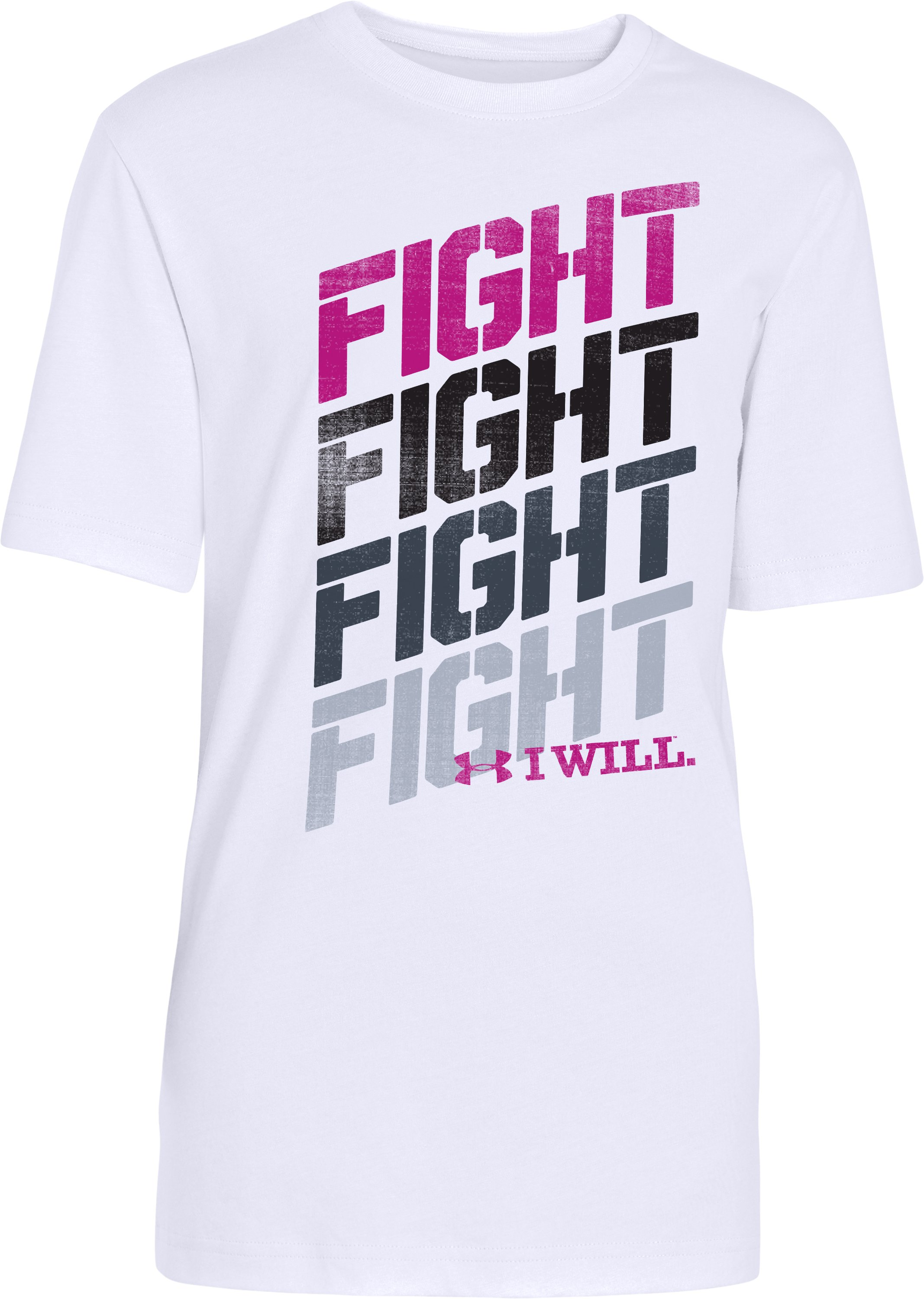 Boys' Power In Pink® Fight T-Shirt, White, zoomed image