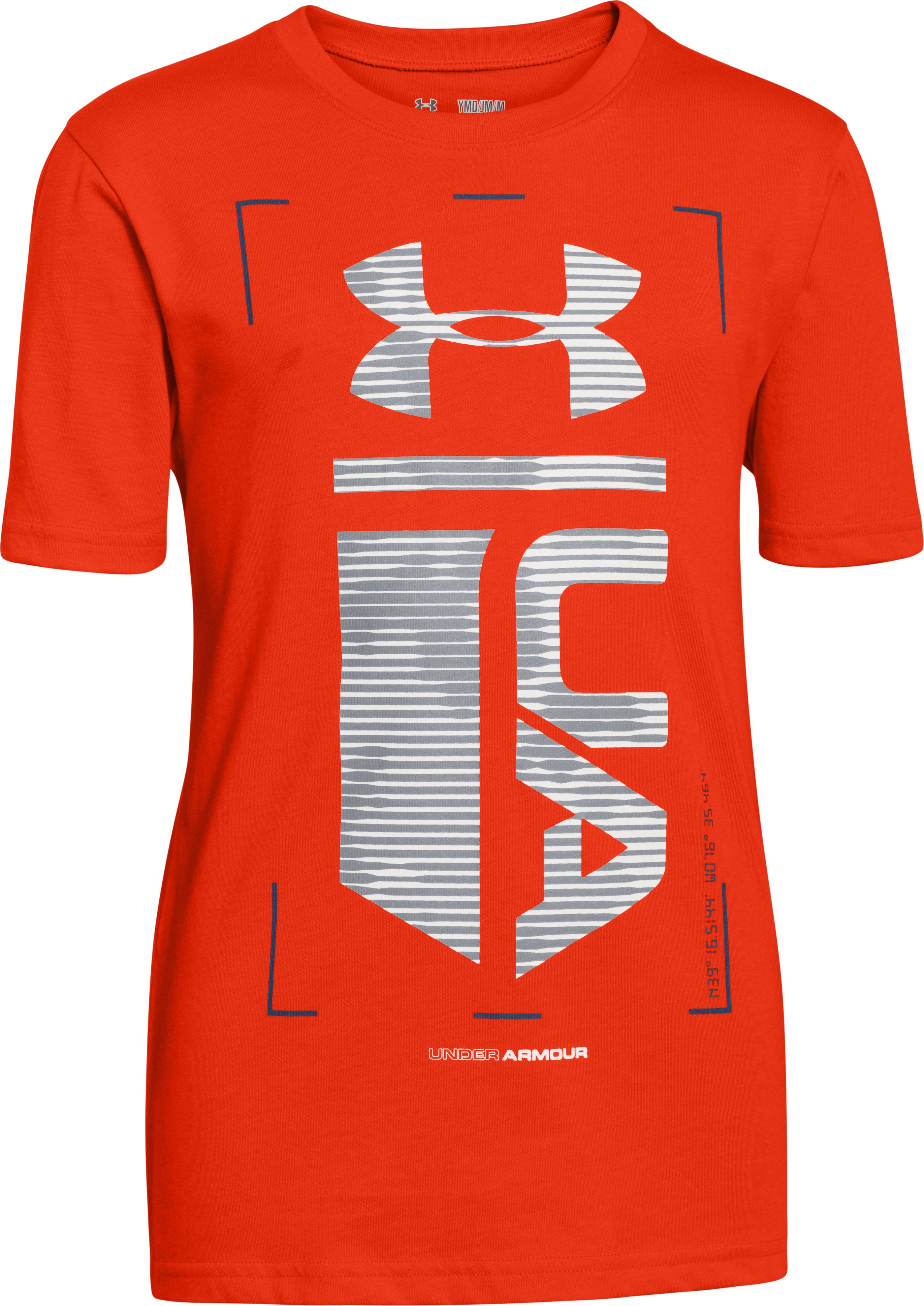 Boys' UA Double Time T-Shirt, Volcano