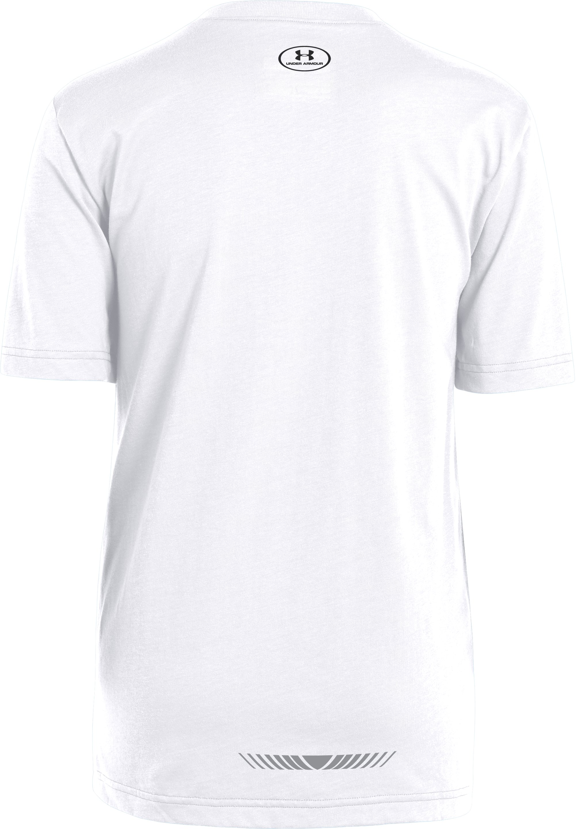 Boys' UA Knockout UPF T-Shirt, White, undefined