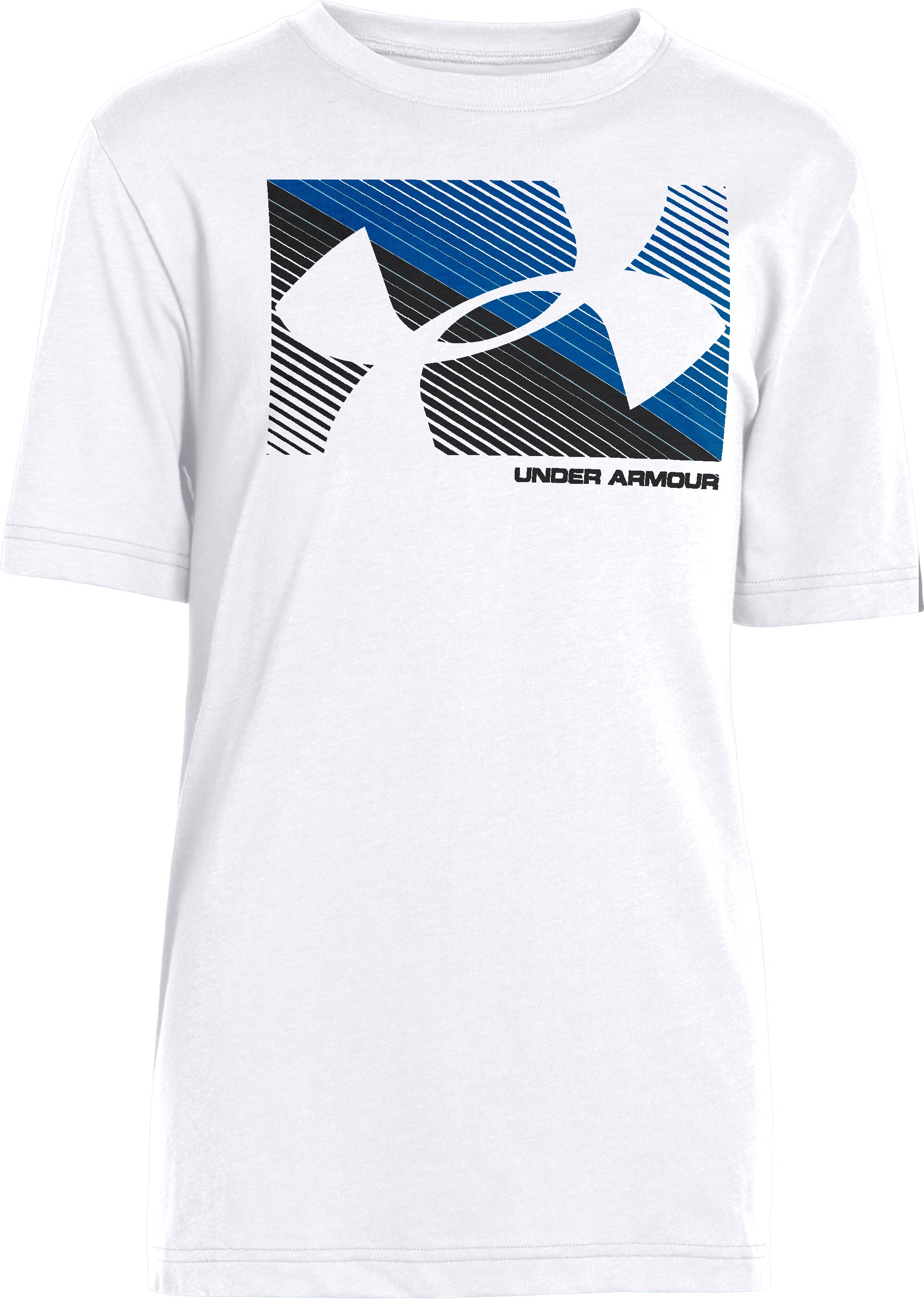 Boys' UA Knockout UPF T-Shirt, White, zoomed image