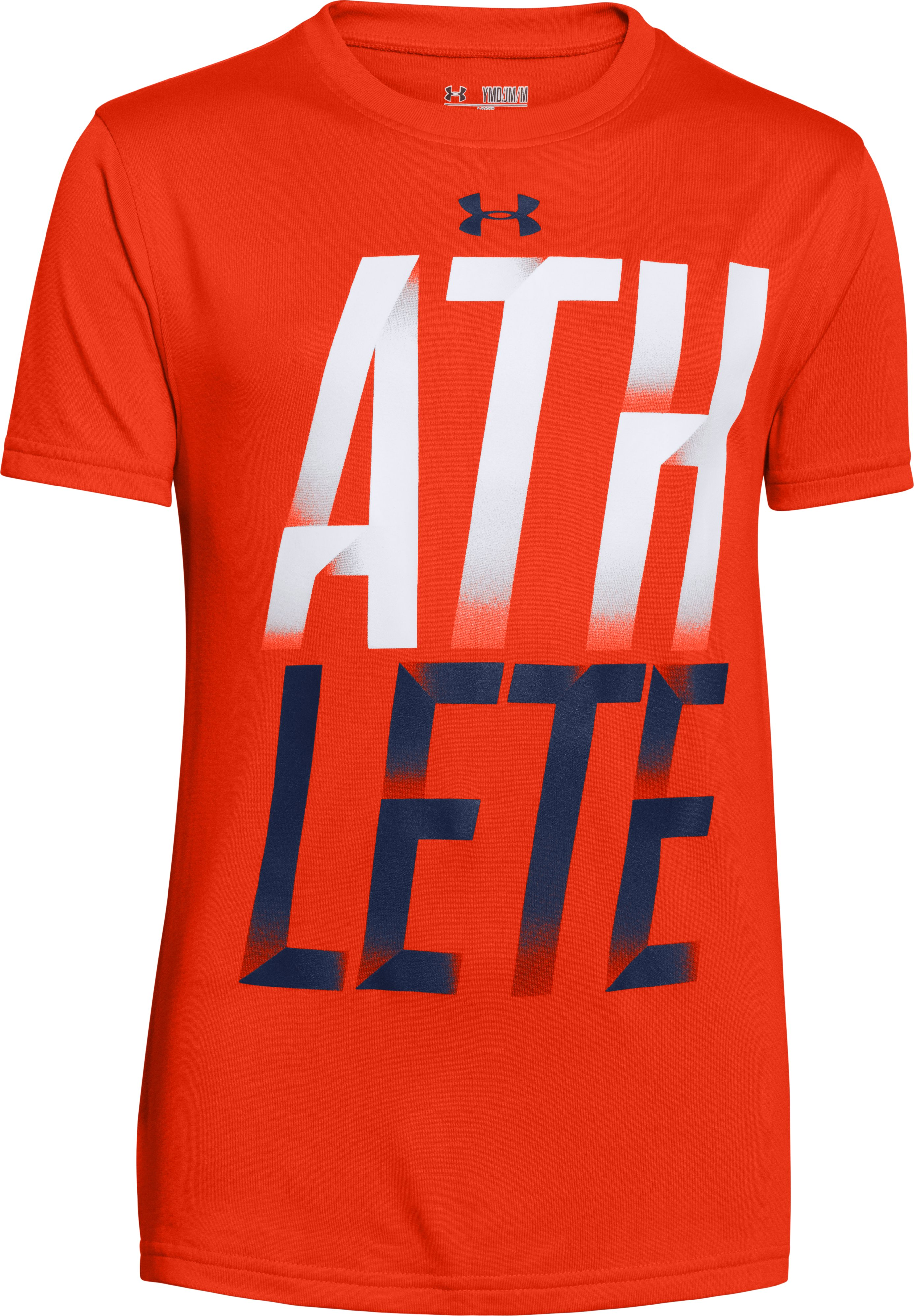 Boys' UA Athlete T-Shirt, Volcano