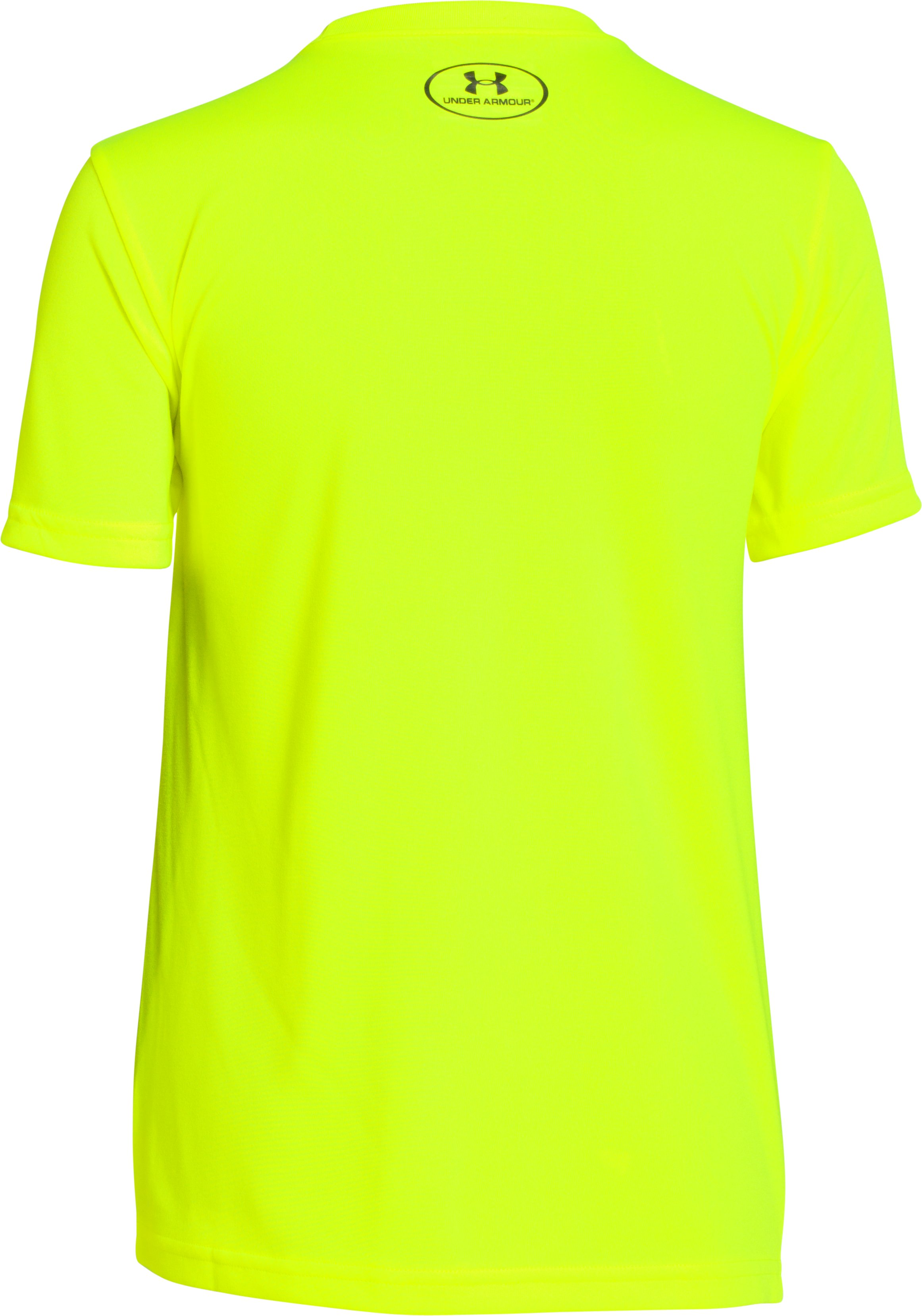 Boys' UA Defend & Defeat T-Shirt, High-Vis Yellow, undefined