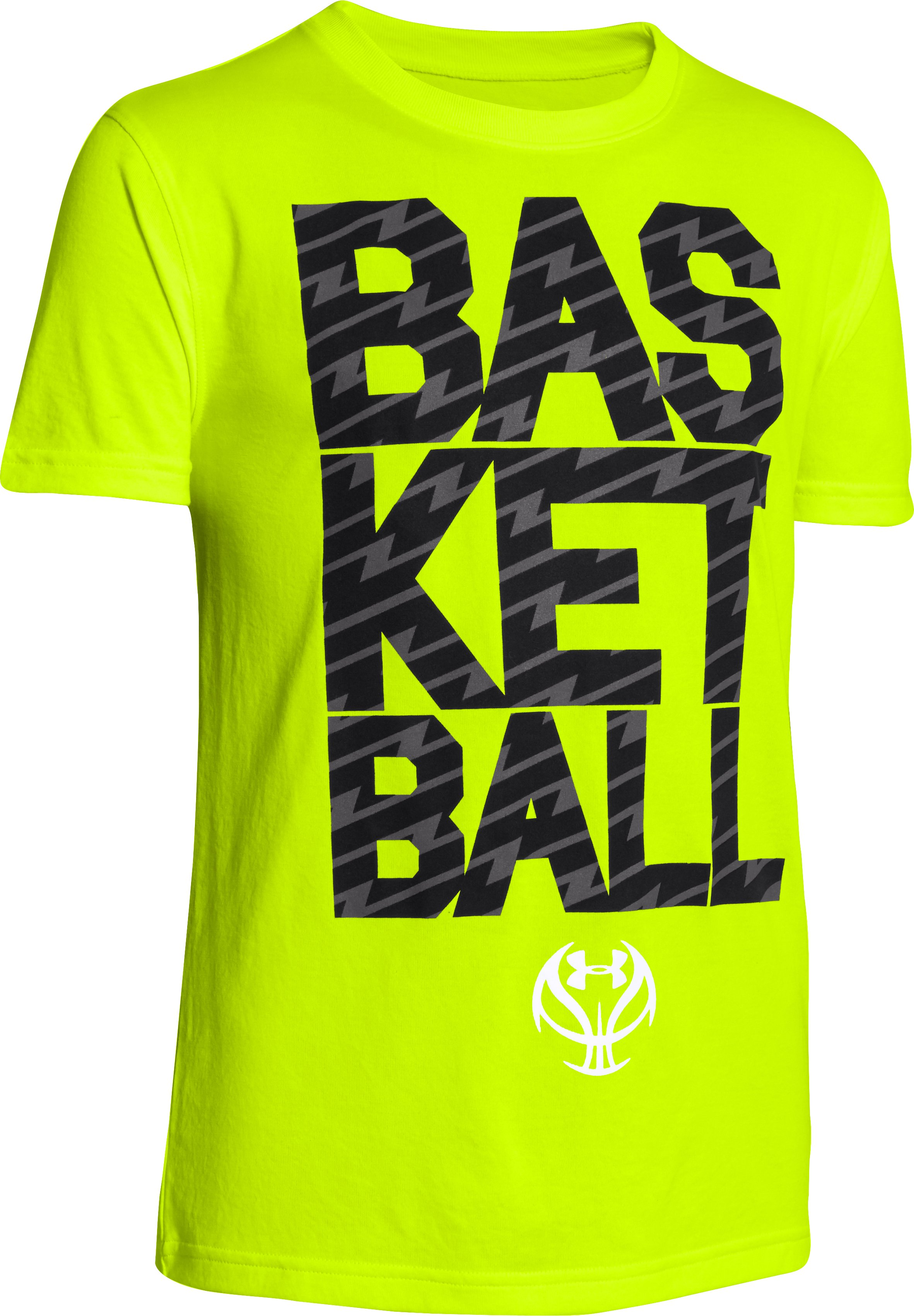 Boys' UA Floor General T-Shirt, High-Vis Yellow, zoomed image