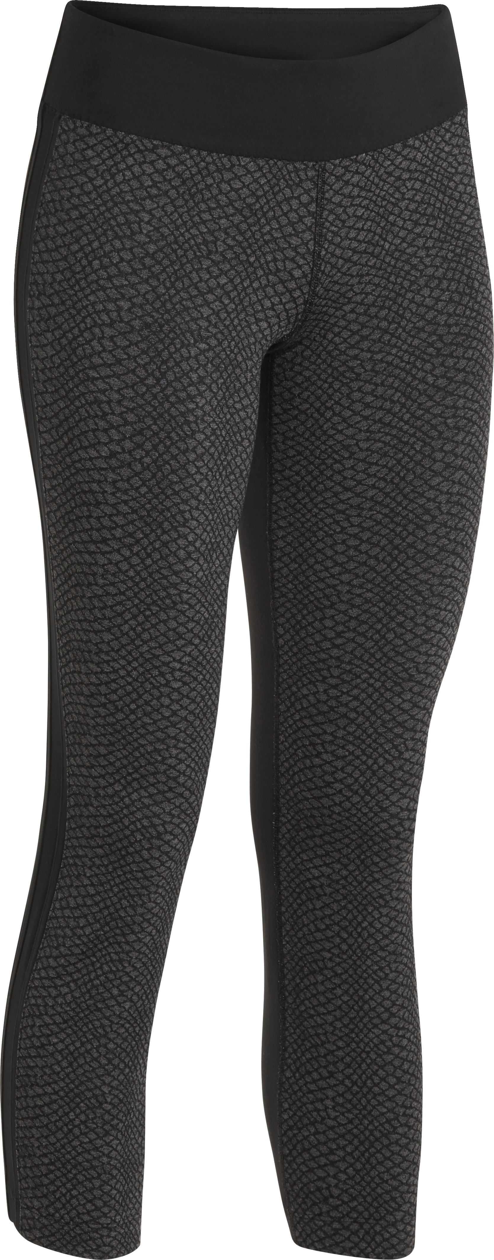 Women's UA StudioMod Pencil Crop Pant, Asphalt Heather, undefined