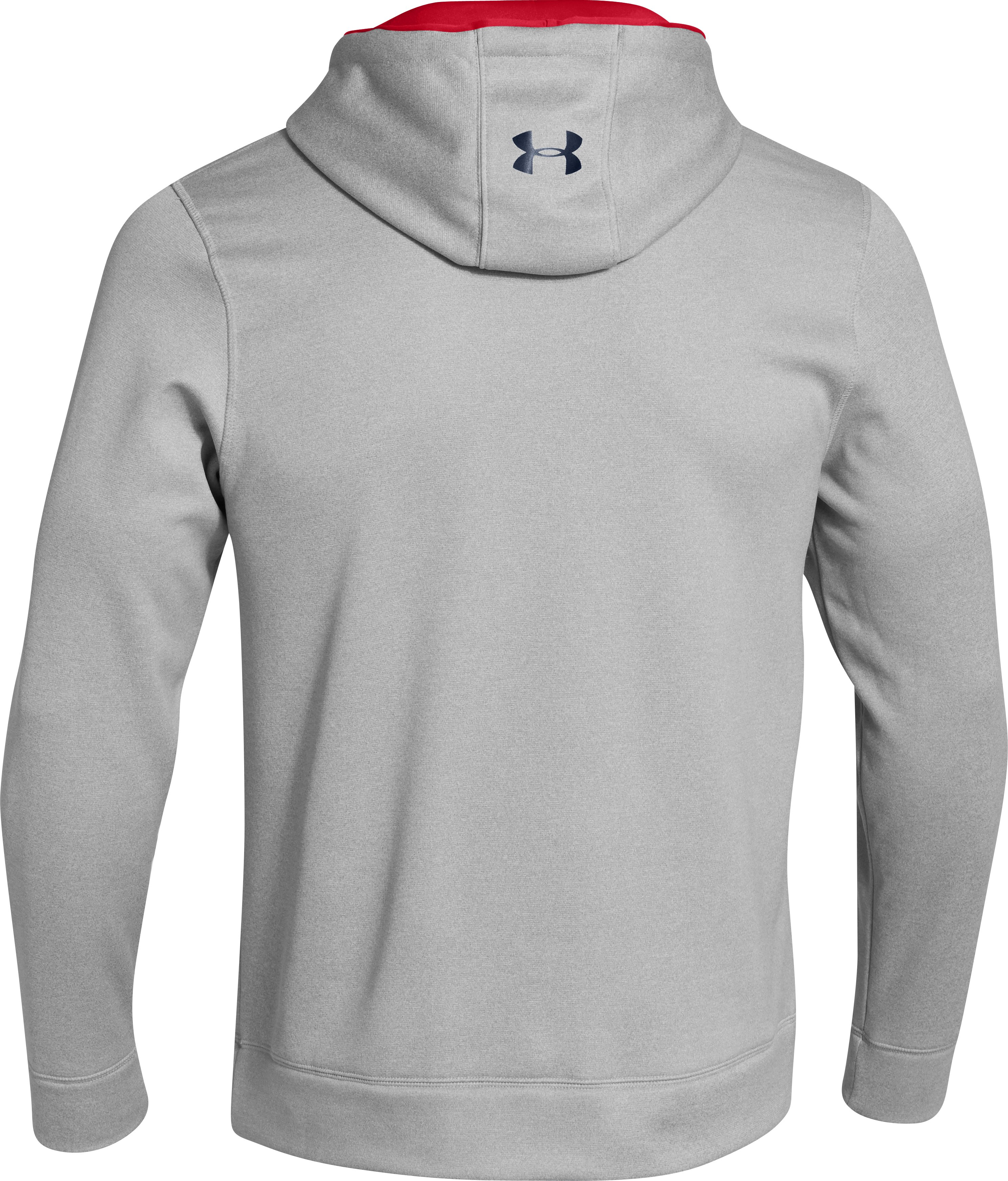 Men's UA Storm Armour® Fleece Big Logo Hoodie, True Gray Heather