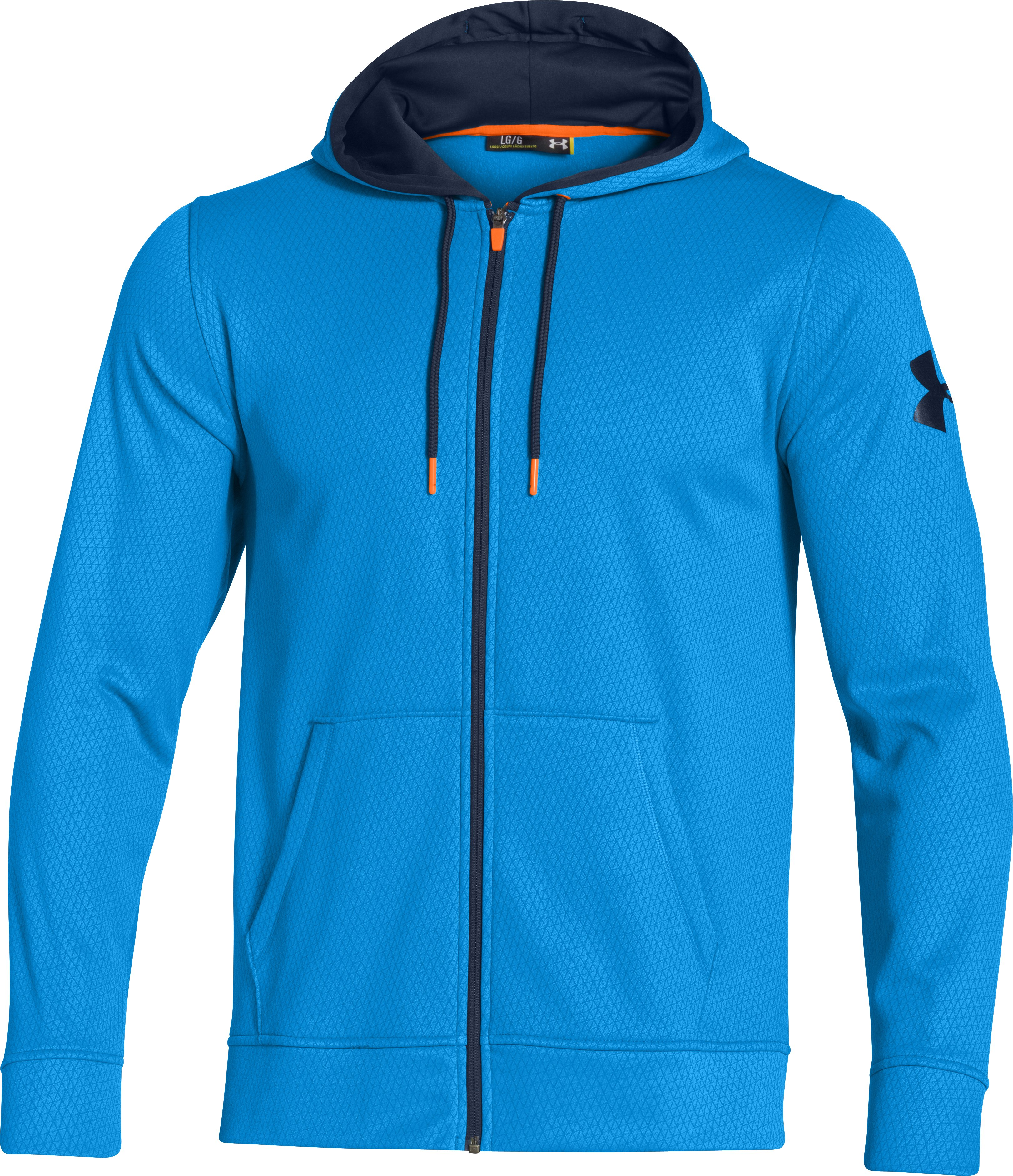 Men's Armour® Fleece Keepyafresh Hoodie, ELECTRIC BLUE