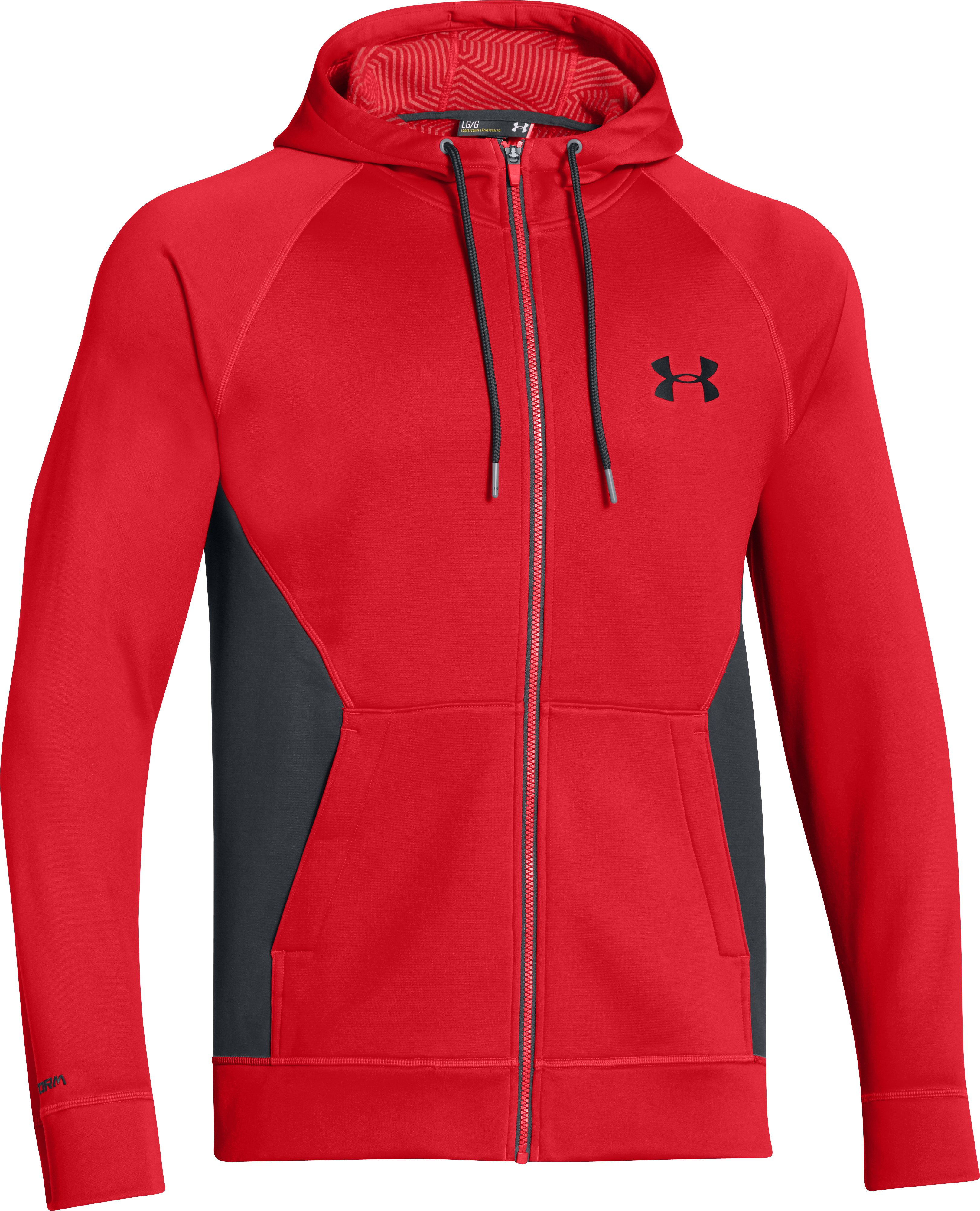 Men's UA Storm ColdGear® Infrared Hoodie, RISK RED, undefined