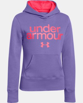 Girls' UA Wordmark Hoodie  1 Color $23.99