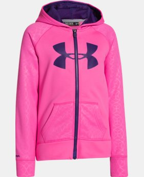 Girls' UA Storm Armour® Fleece Big Logo MagZip Hoodie LIMITED TIME: FREE U.S. SHIPPING 1 Color $44.99