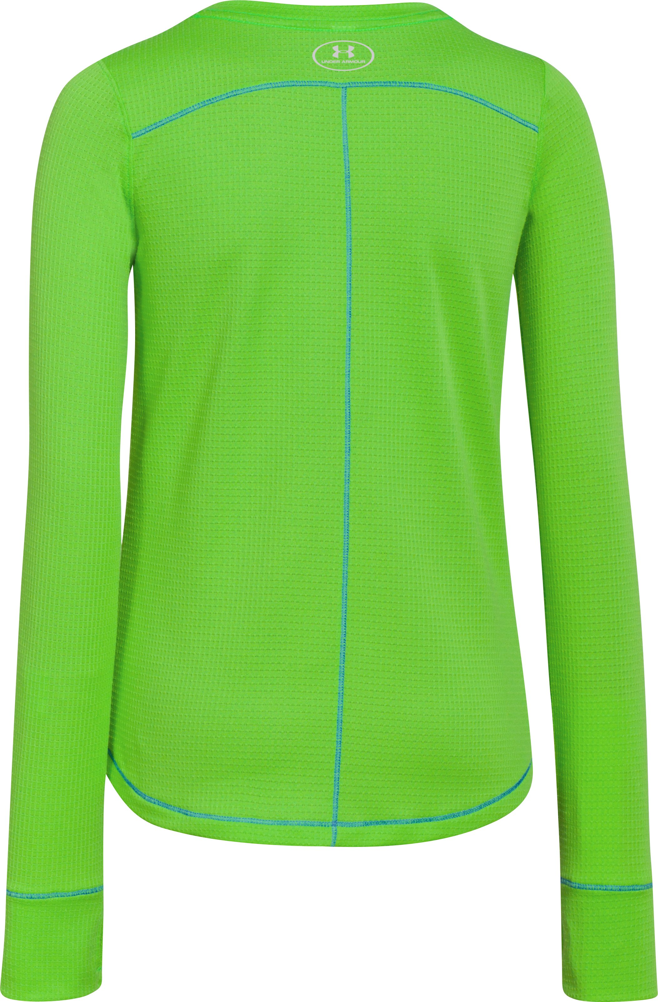 Girls' UA Frosty Long Sleeve, GECKO GREEN