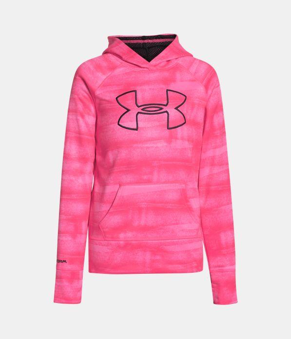 Girls' UA Power In Pink® Armour® Fleece Big Logo Hoodie ...
