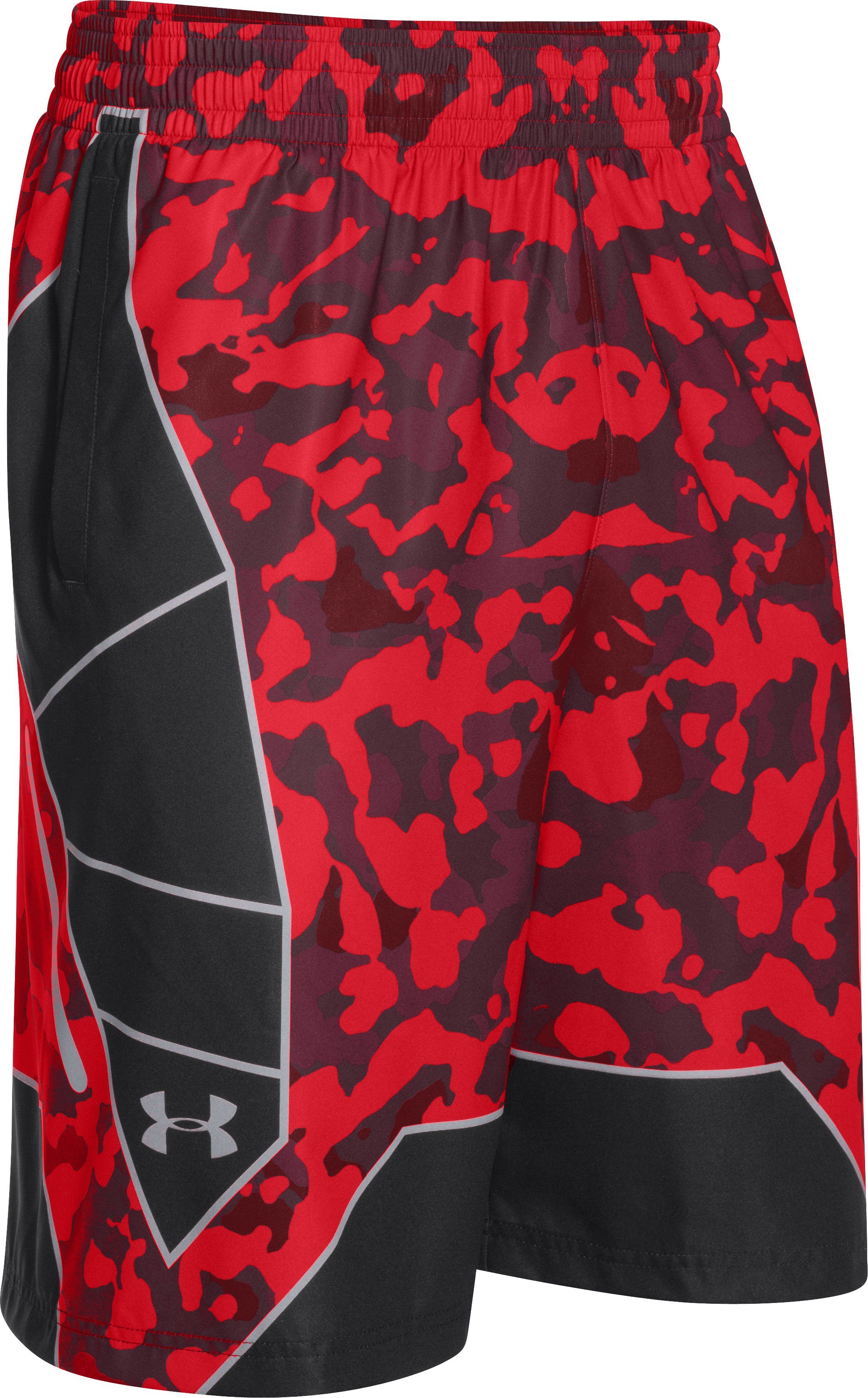 Men's UA Undeniable Playmaker Basketball Shorts, RISK RED, undefined