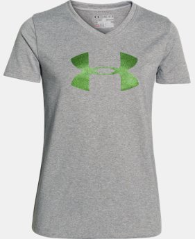 Girls' UA Tech™ Big Logo V-Neck LIMITED TIME: FREE U.S. SHIPPING 9 Colors $8.99 to $14.99