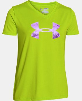 Girls' UA Tech™ Big Logo V-Neck  4 Colors $11.99 to $14.99