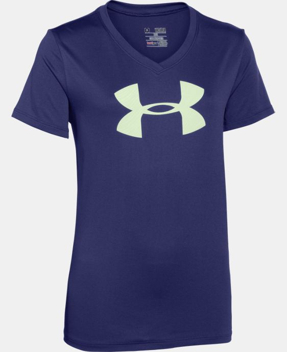 Girls' UA Tech™ Big Logo V-Neck  1 Color $11.24