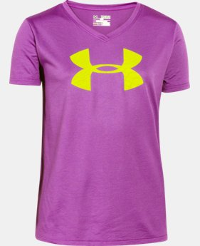 Best Seller Girls' UA Tech™ Big Logo V-Neck   $14.99