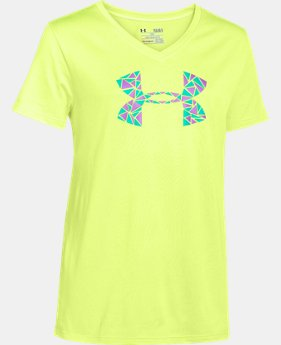 Girls' UA Tech™ Big Logo V-Neck LIMITED TIME: FREE U.S. SHIPPING 2 Colors $8.99 to $14.99