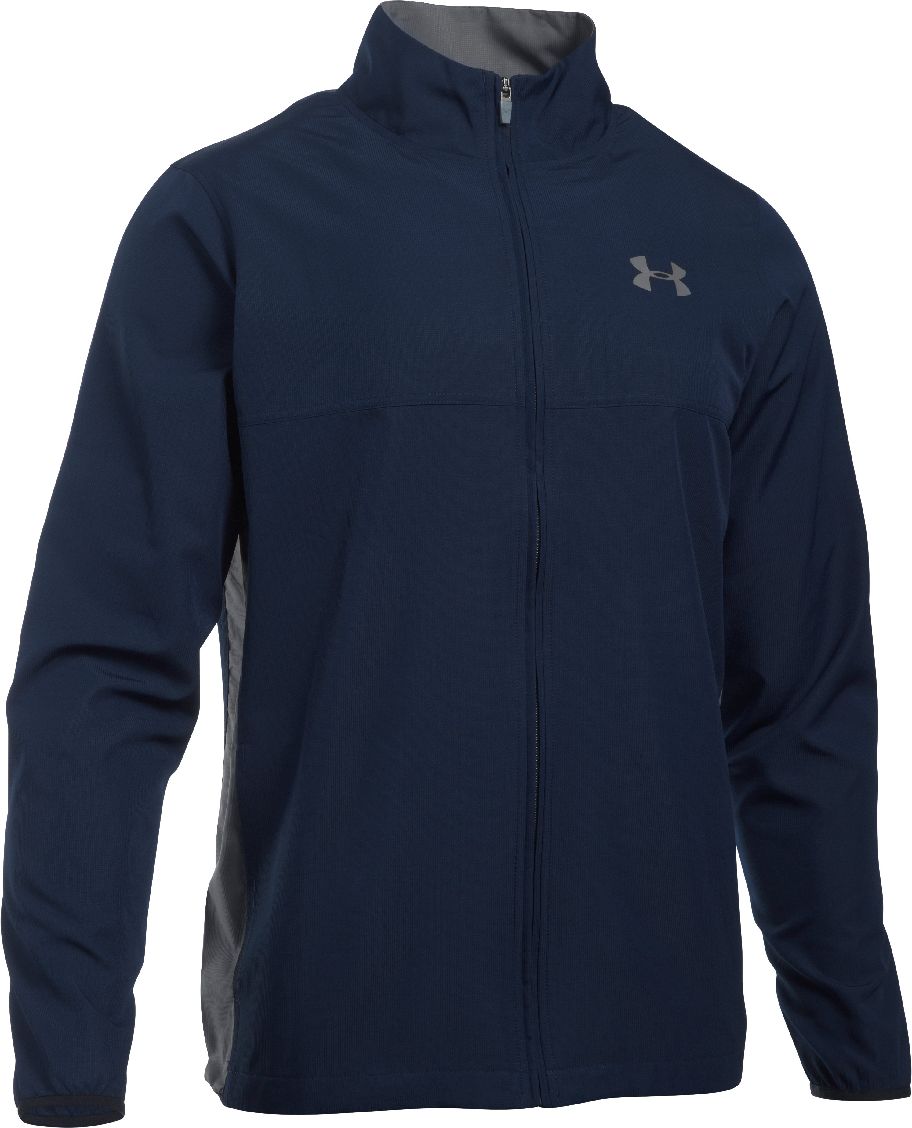 Men's UA Vital Warm-Up Jacket, Midnight Navy,