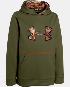 Boys' UA Storm Caliber Big Logo Hoodie  2 Colors $32.99 to $41.99