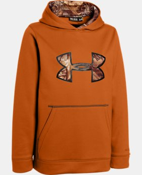 Boys' UA Storm Caliber Big Logo Hoodie  1 Color $41.99