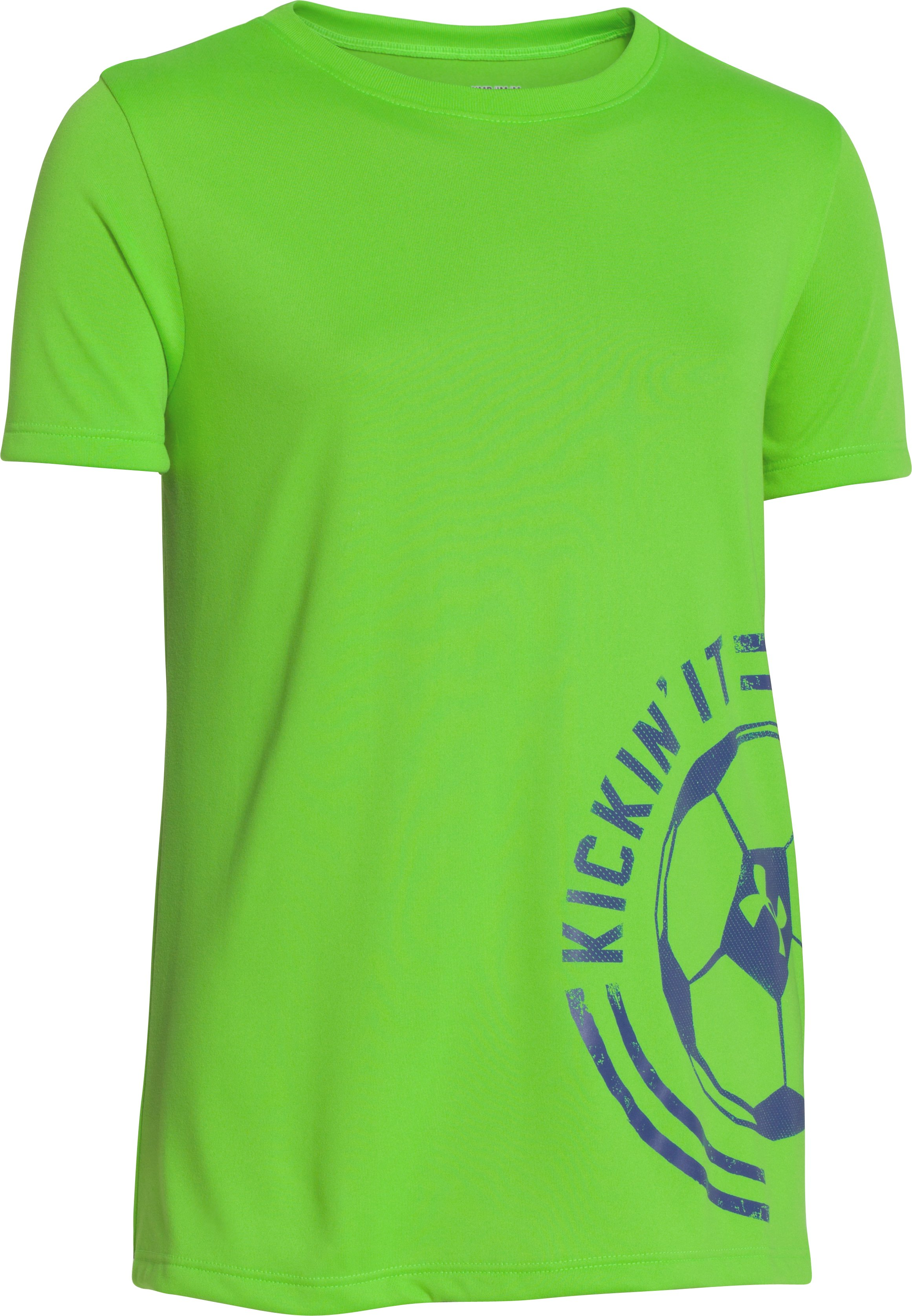 Girls' UA Kickin' It T-Shirt, GECKO GREEN, zoomed image