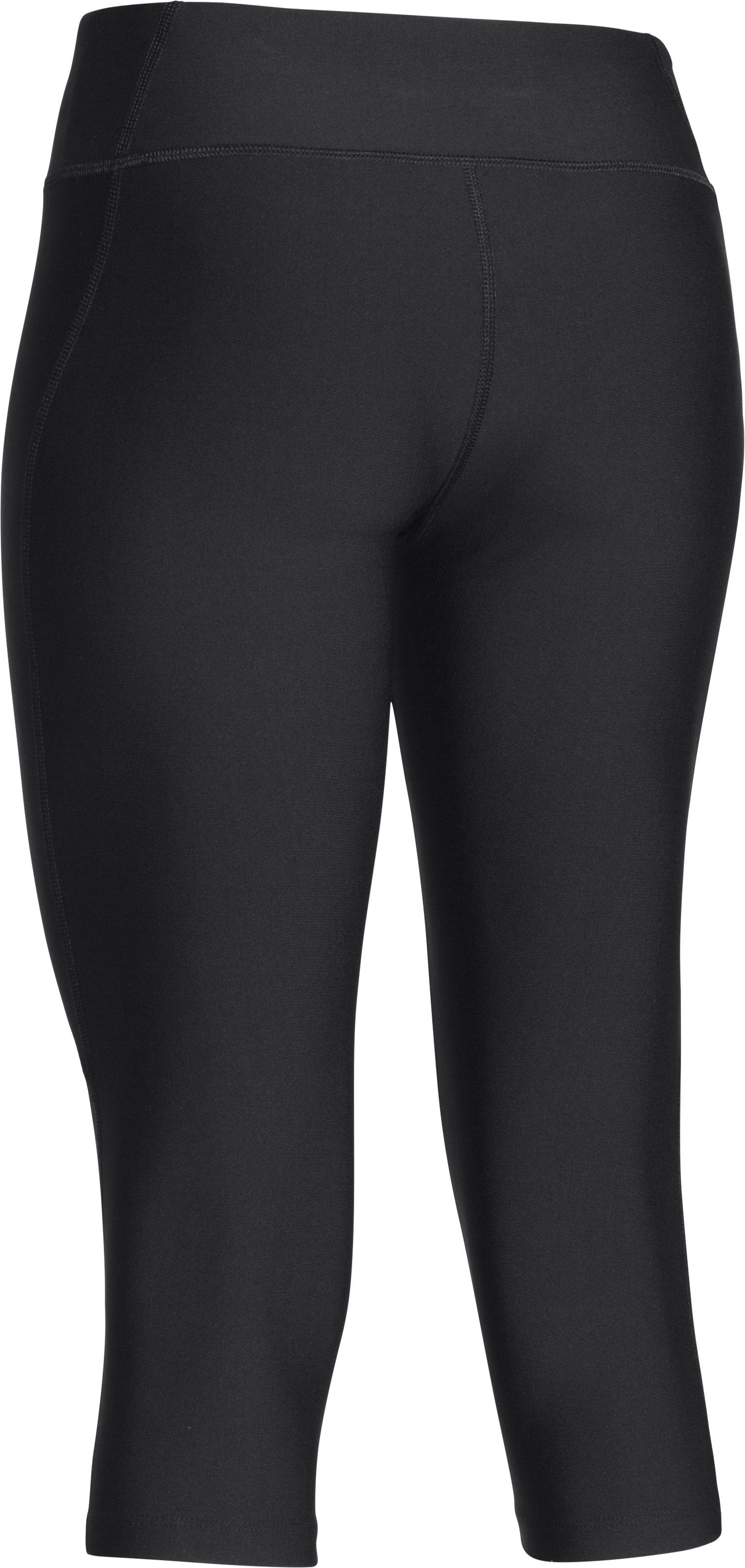 "Women's UA HeatGear® Alpha 17"" Mesh Capri, Black"