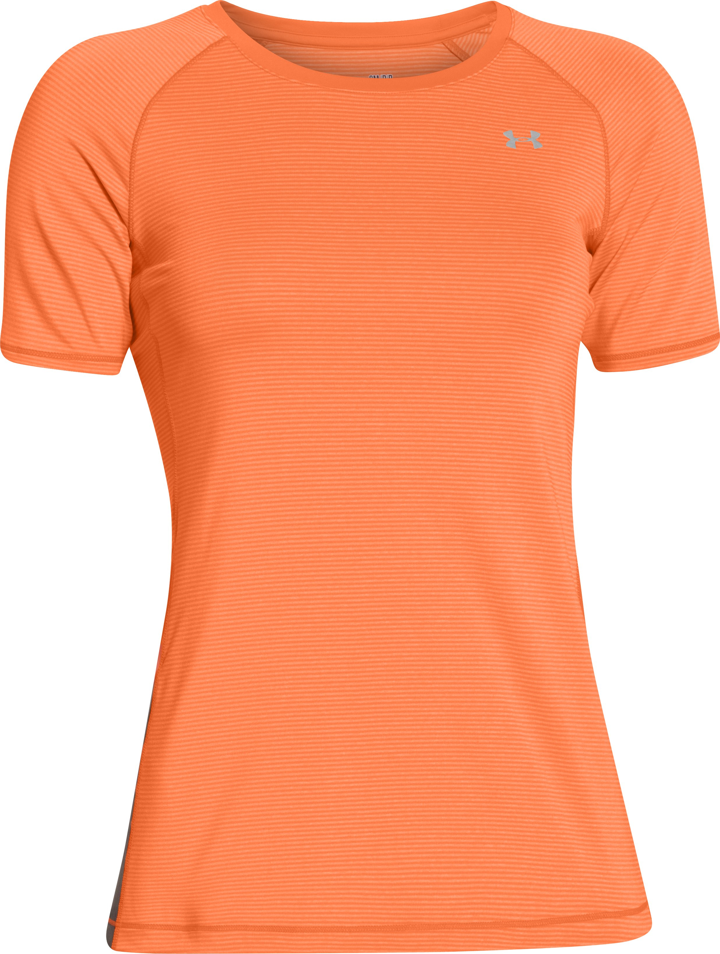 Women's UA HeatGear® Armour Printed Short Sleeve, CITRUS BLAST, undefined
