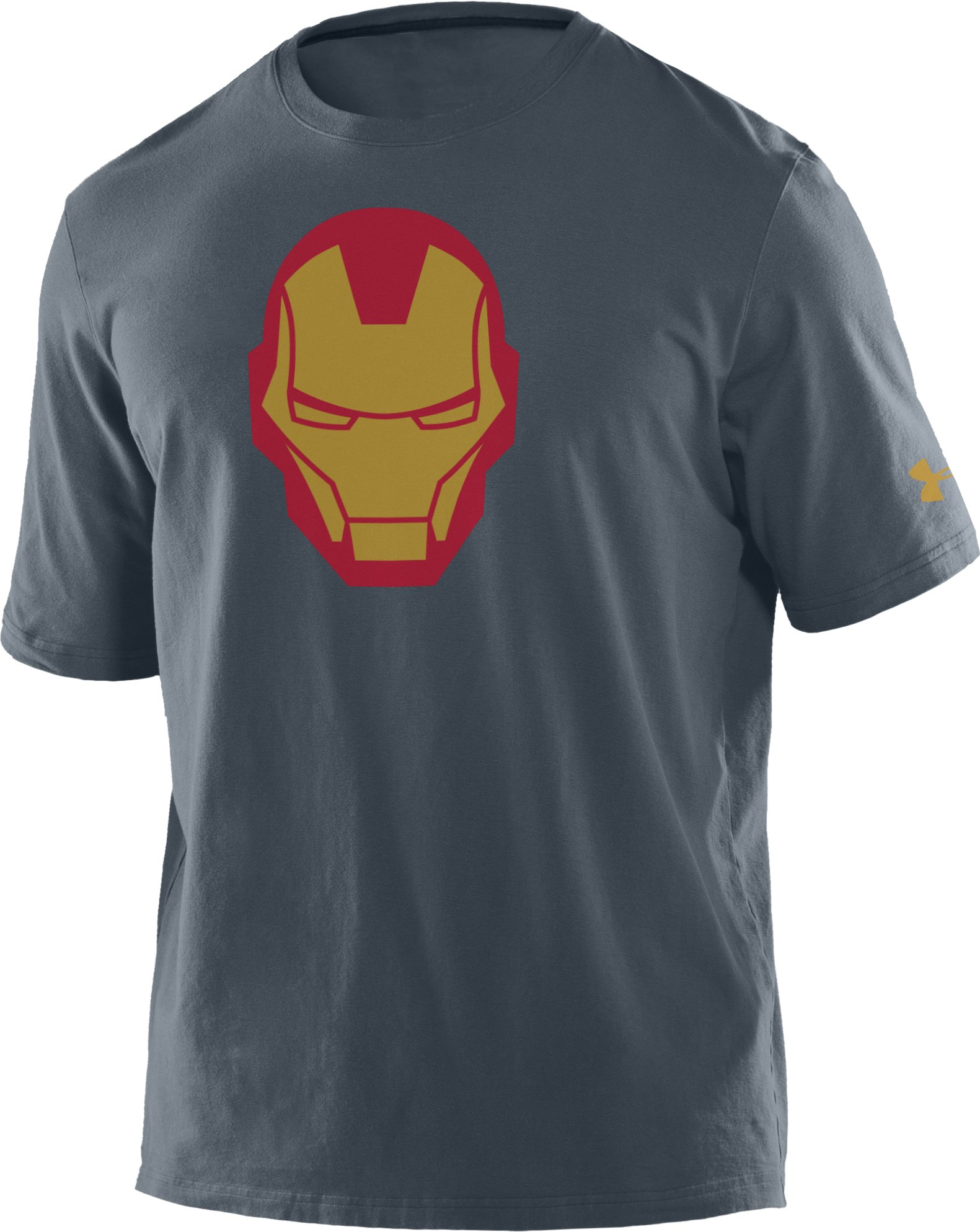 Boys' Under Armour® Alter Ego Iron Man Helmet T-Shirt, Charcoal, zoomed image