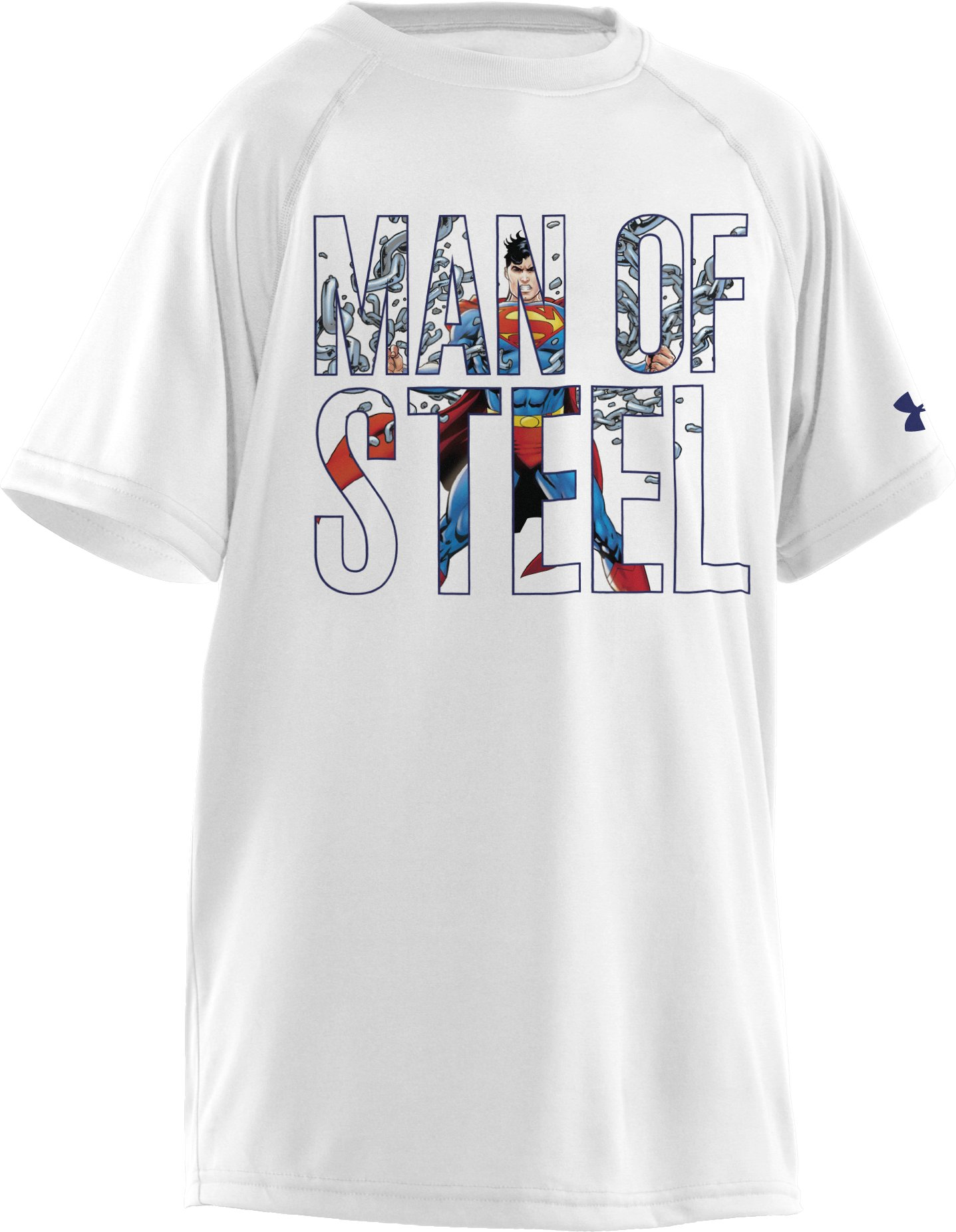 Boys' Under Armour® Alter Ego Man Of Steel T-Shirt, White