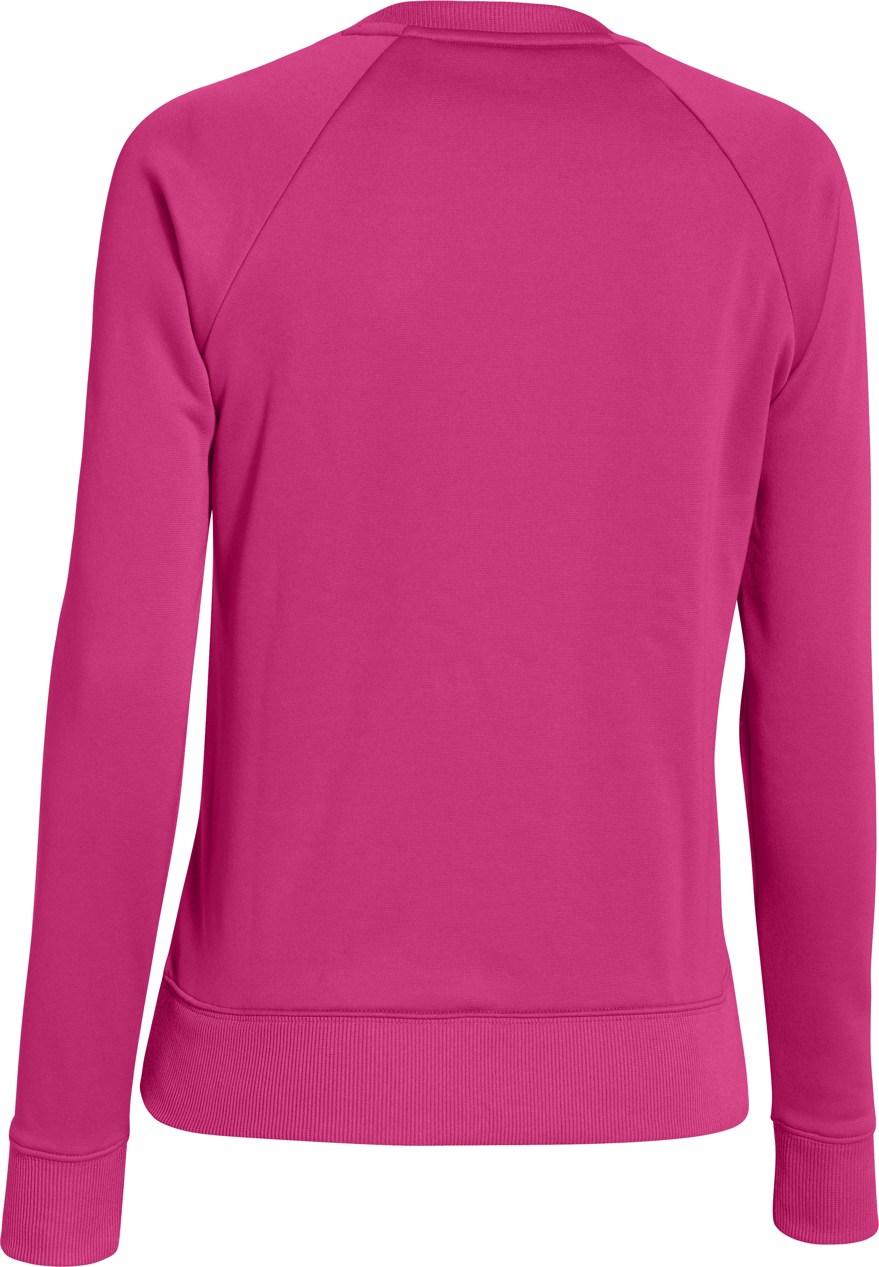 Women's UA Big Logo Letterman Crew, FUCHSIA ROSE