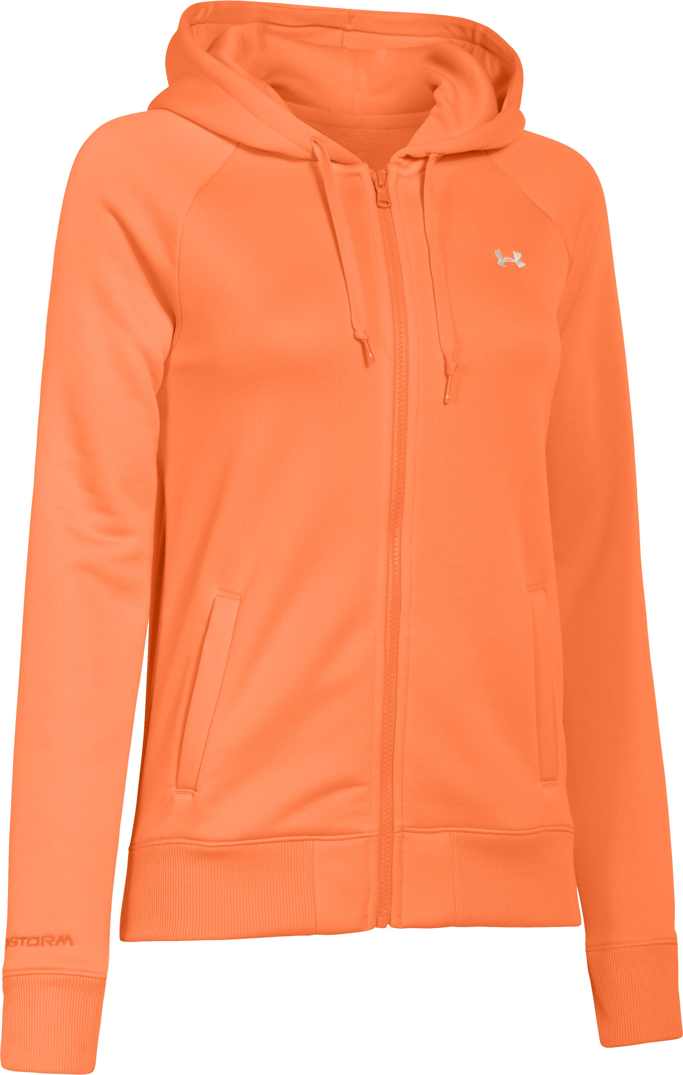 Women's  Armour Fleece® Full Zip Hoodie, CITRUS BLAST, undefined