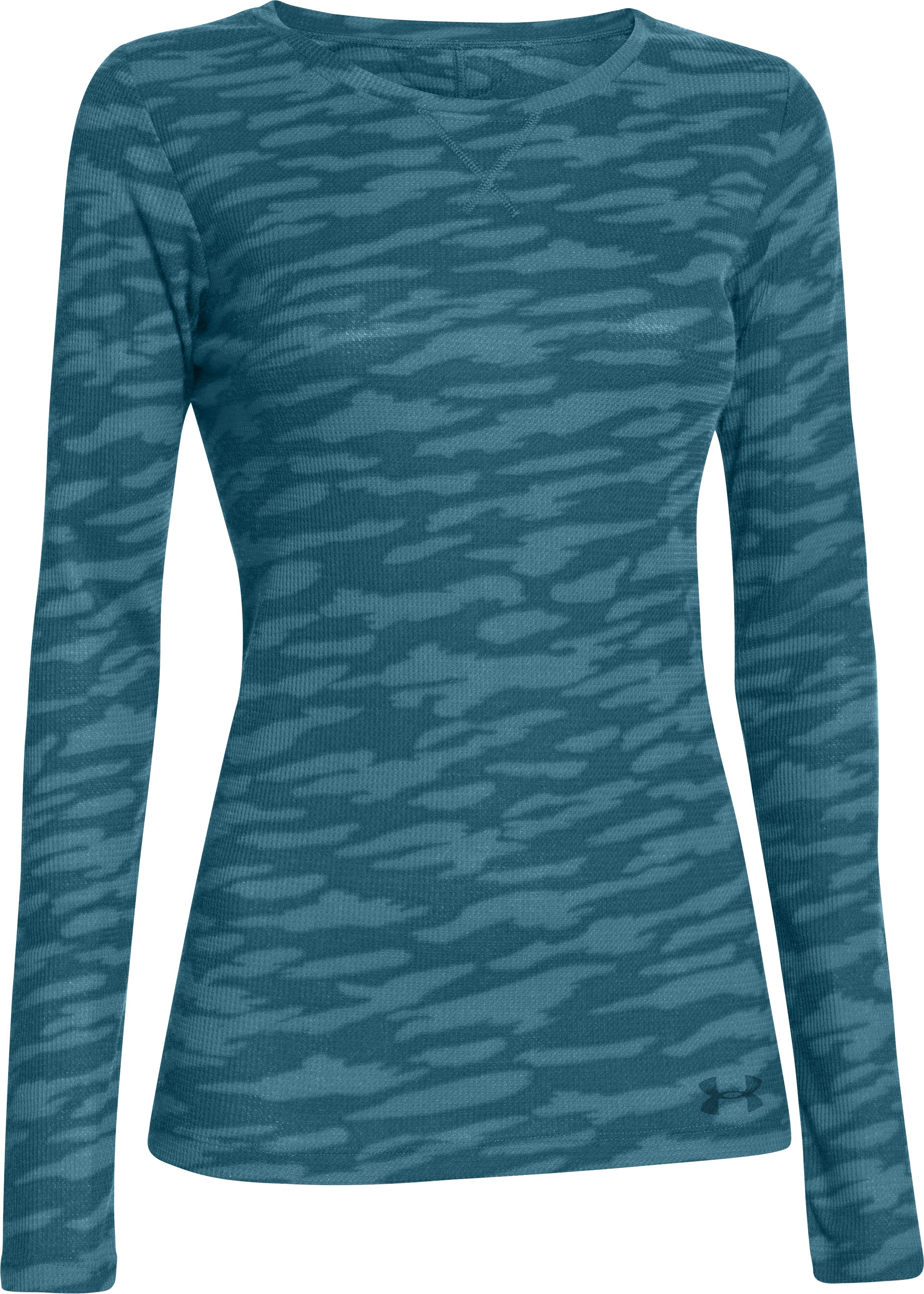 Women's UA Cozy Waffle Long Sleeve, LEGION BLUE, undefined