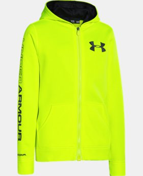 Boys' UA Storm Armour® Fleece MagZip™ Hoodie LIMITED TIME: FREE U.S. SHIPPING  $44.99
